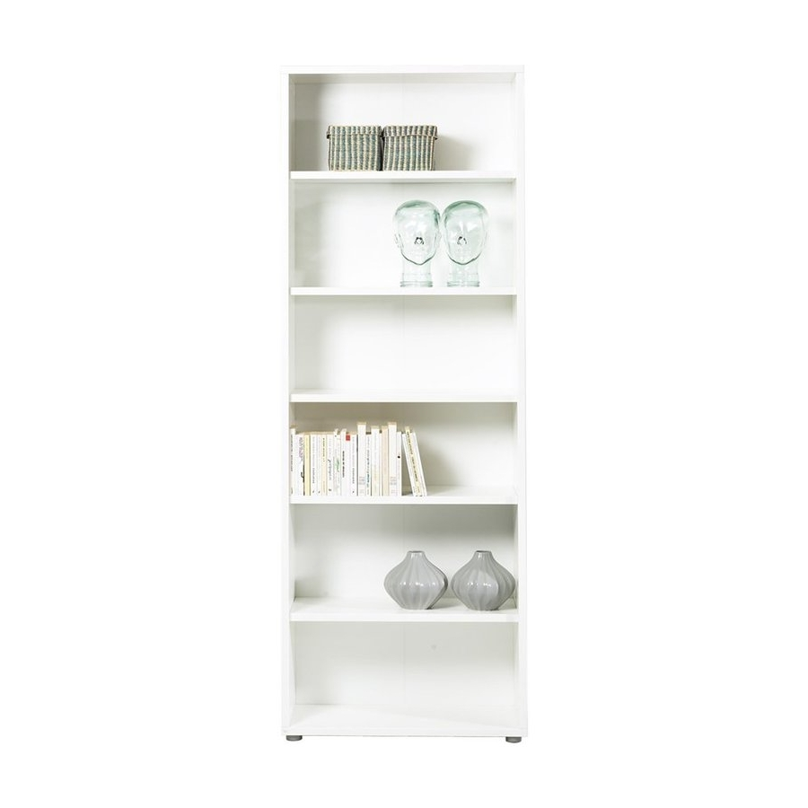 Best And Newest Shop Tvilum Bocca White Wood 5 Shelf Bookcase At Lowes For White 5 Shelf Bookcases (View 7 of 15)