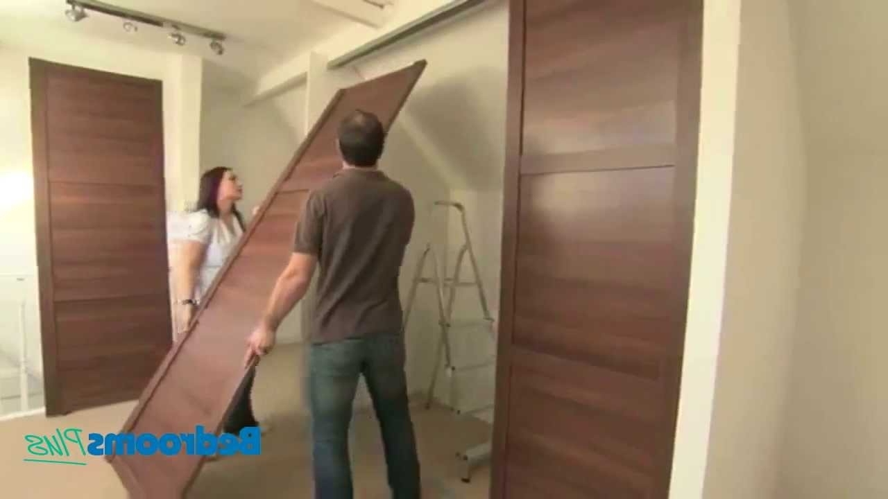 Best And Newest Spacepro Sliding Door Wardrobes – Install Track & Doors – Youtube Pertaining To Large Double Rail Wardrobes (View 12 of 15)