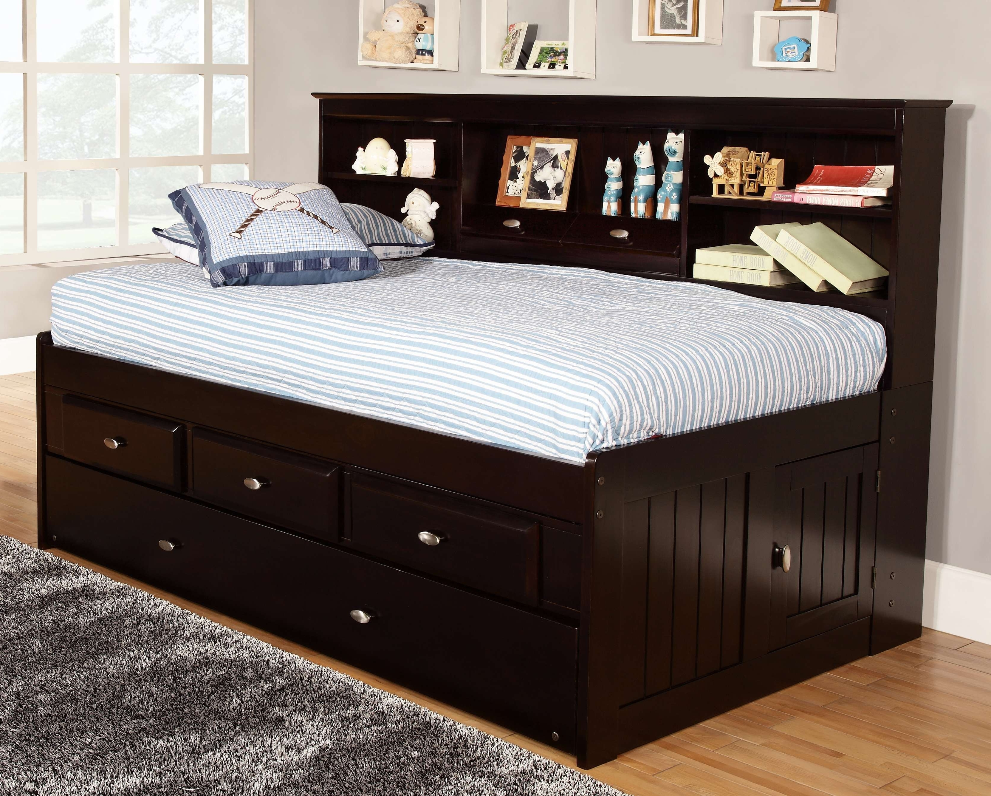 Best And Newest Twin Bed Bookcases With Regard To These Classy And Stylish Twin Captain Beds With Storage Are The (View 3 of 15)