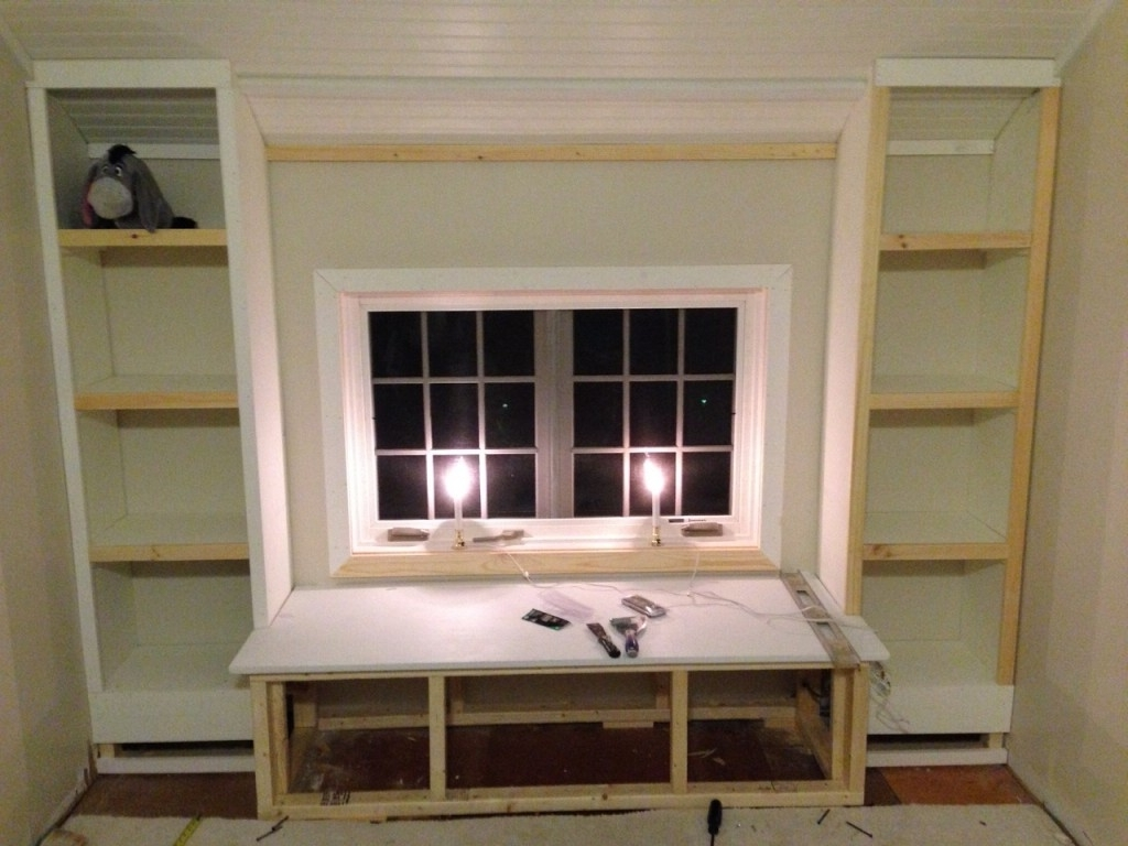 Best And Newest Under Window Bookcases With Regard To Diy: How To Build A Window Seat And Built In Bookcases – Tucker's (View 1 of 15)