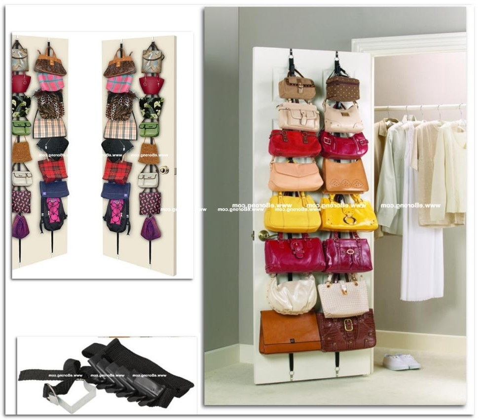 Best And Newest Wardrobes Hangers Storages For Closet Storage : Park A Purse Tote And Clutch Organizer Bag (View 14 of 15)