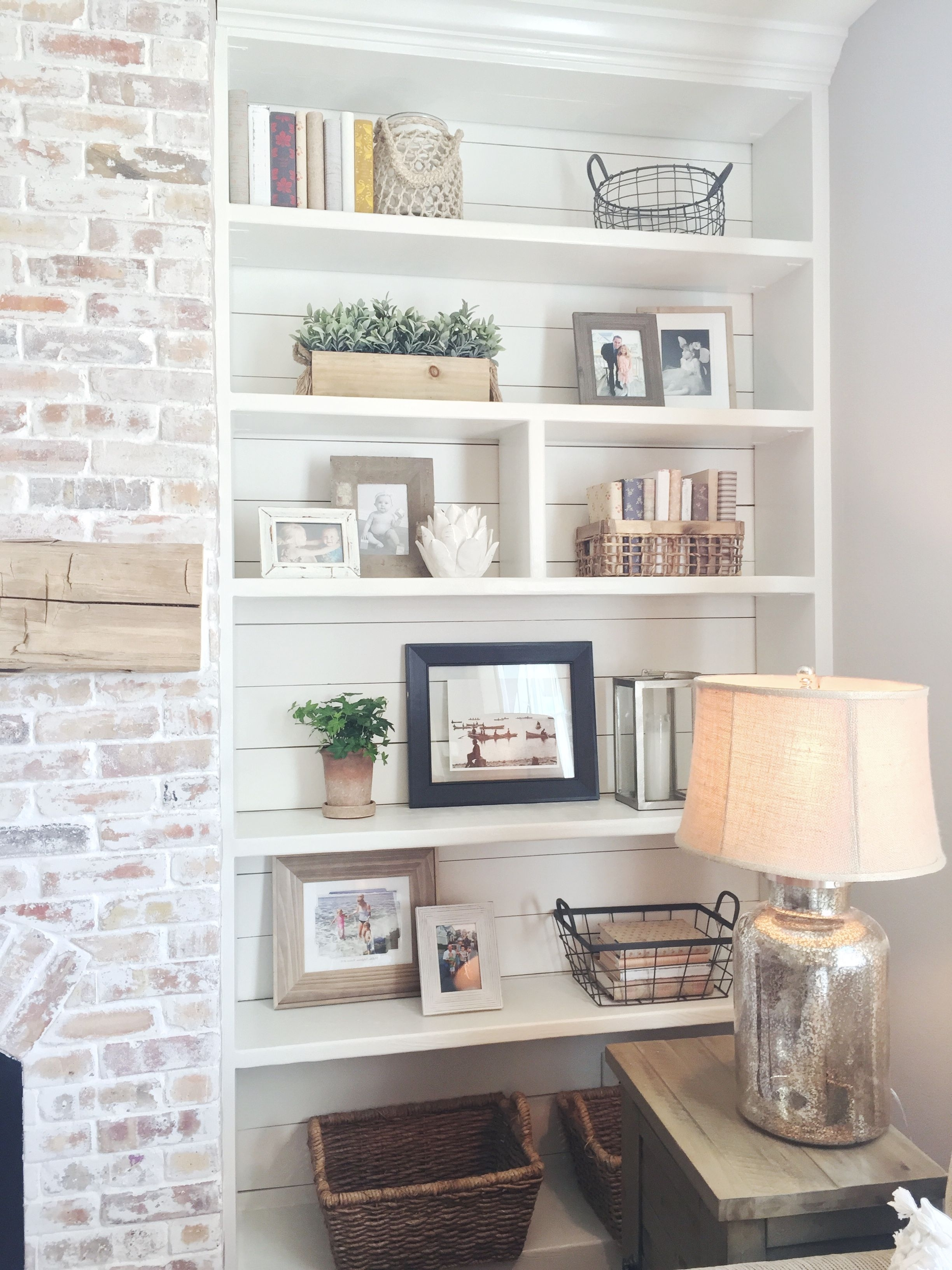 Best And Newest Whitewash Bookcases For Built In Bookshelves, Styling, Shiplap, Whitewash Brick Fireplace (View 1 of 15)