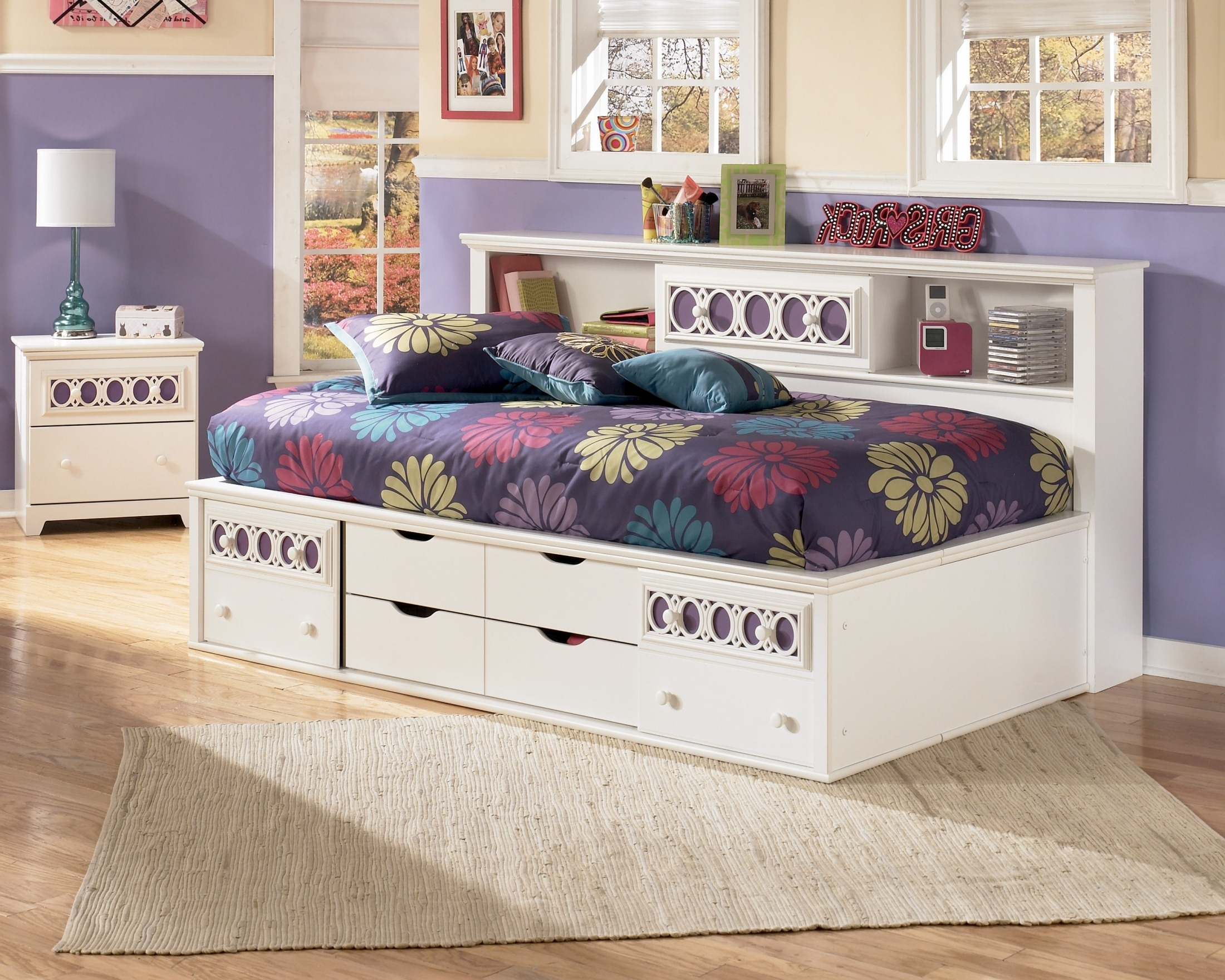Best And Newest Zayley Full Bookcase Storage Bed – Storage Beds – Beds – Bedroom Inside Zayley Full Bed Bookcases (View 3 of 15)