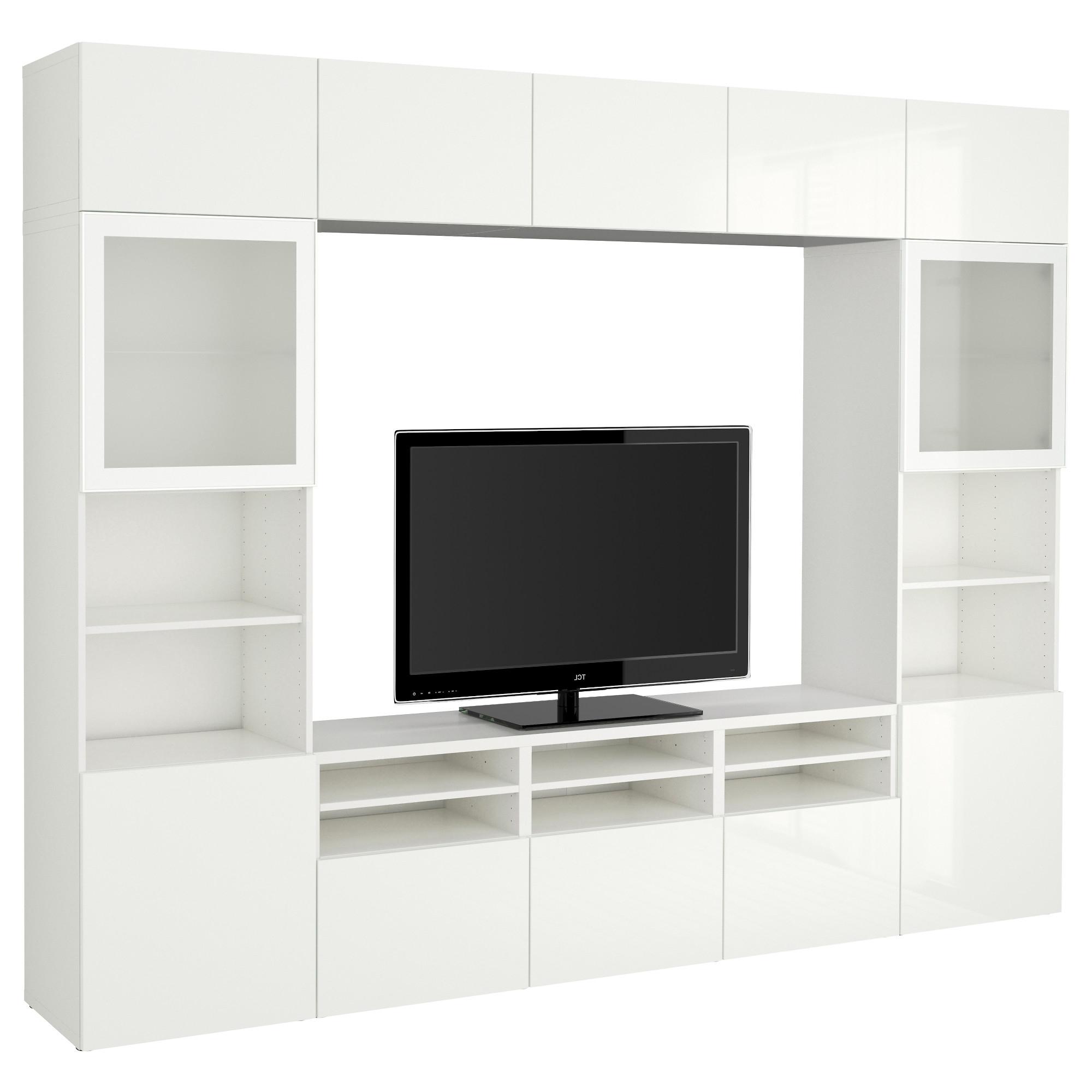 Besta Tv Storage Combinationglass Doors Whiteselsviken High Ikea Pertaining To Most Current Tv Storage Units (View 3 of 15)