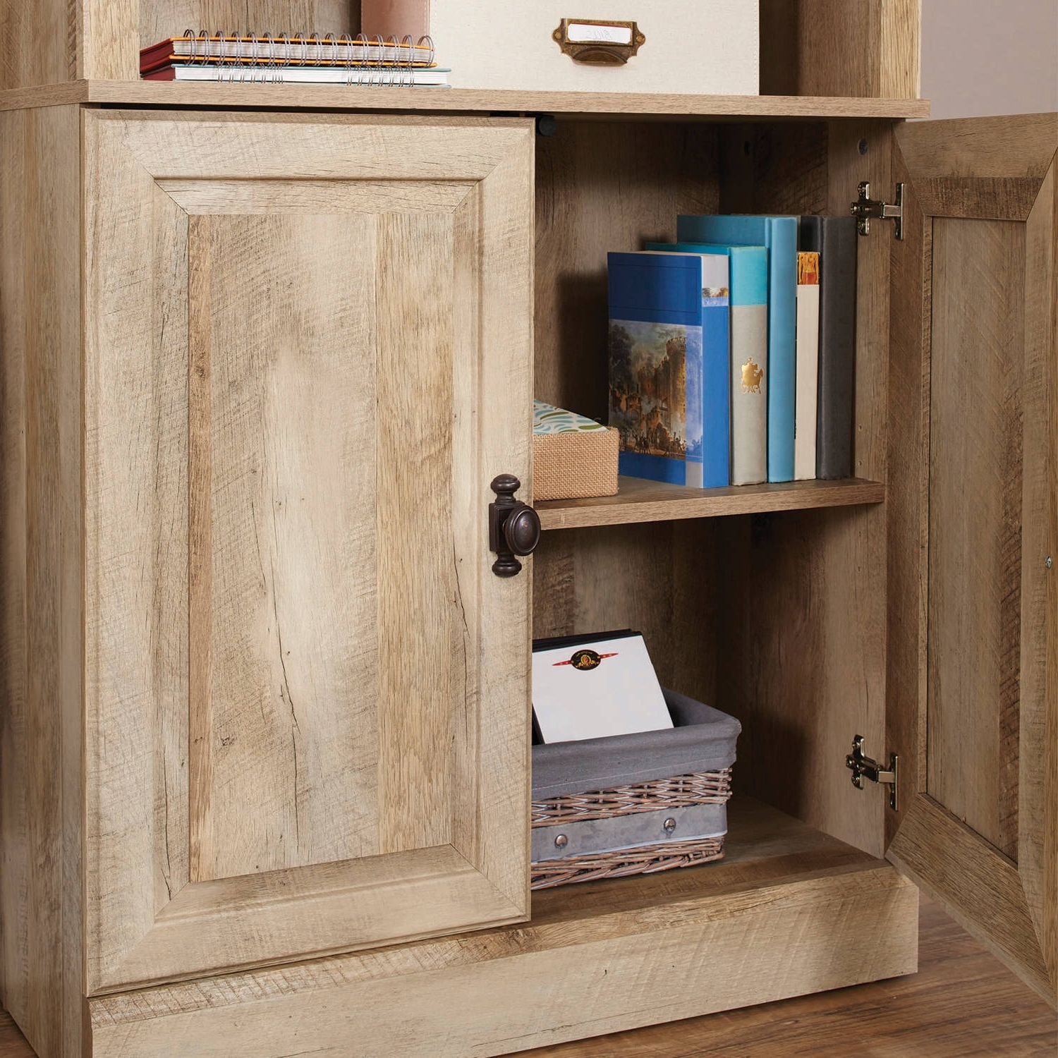 Better Homes And Gardens Crossmill Bookcase With Doors, Multiple Within Well Liked Bookcases With Bottom Cabinets (View 1 of 15)