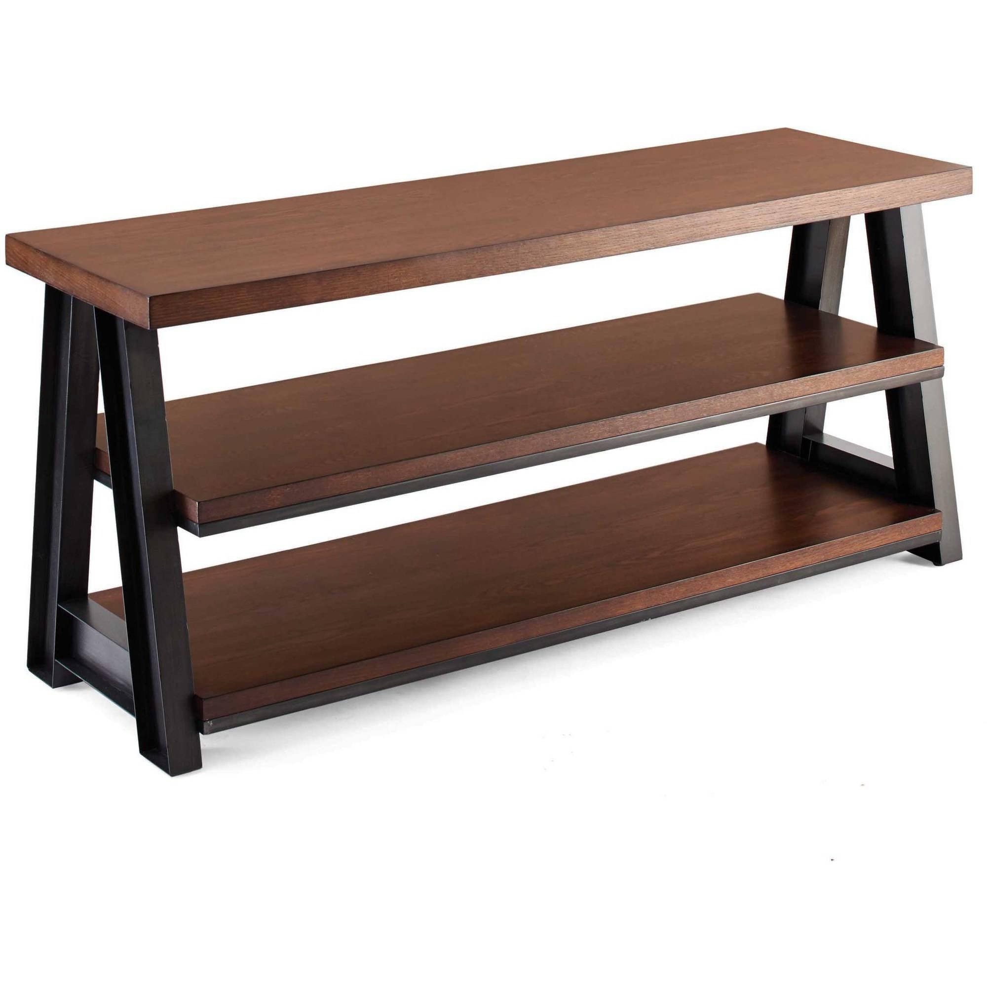 Better Homes And Gardens Tv Brown 3 In 1 Mercer Stand For Tvs Up Pertaining To Popular Radiator Cover Tv Stand (View 3 of 15)