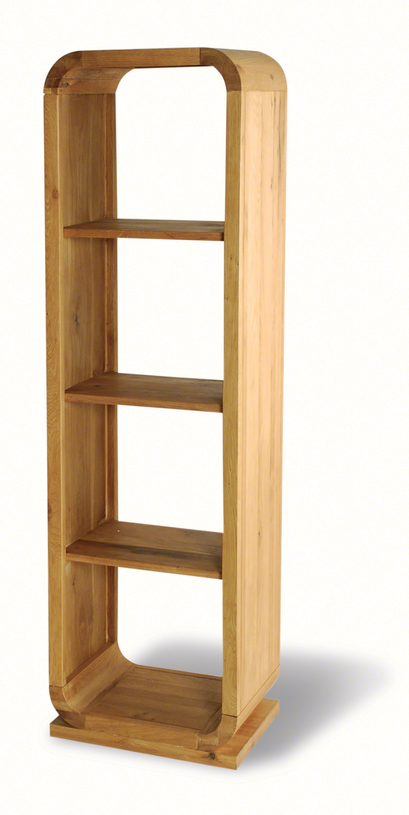 Beverly Oak Open Back Shelf Unit 3 Shelves – Style Our Home Regarding Most Recently Released Oak Shelves (View 1 of 15)