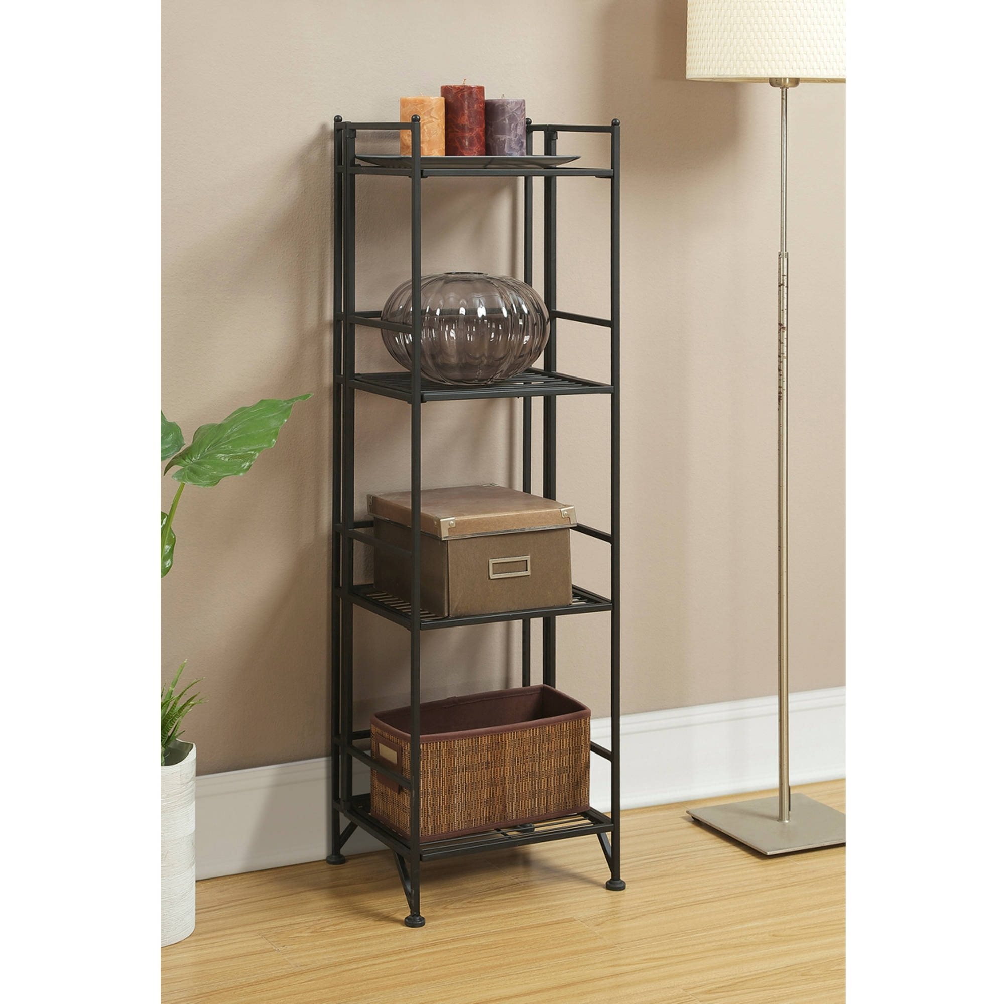 Bifold Bookcases Pertaining To Newest Convenience Concepts Designs2Go Metal Folding 4 Shelf Bookcase (View 2 of 15)