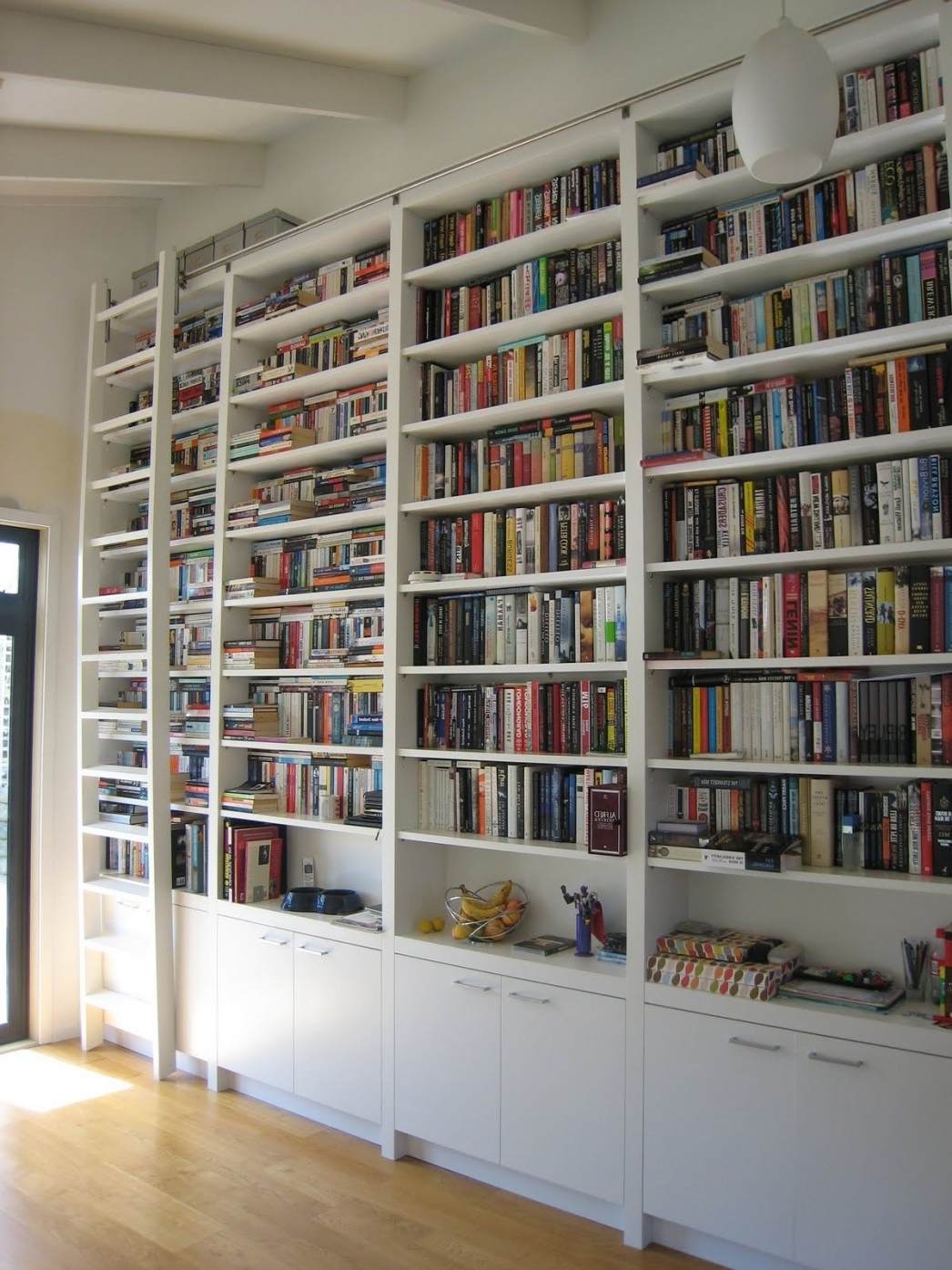Big Library Ladder Ikea Book Cases Plan Ideas Narrow Bookcases Regarding Widely Used Bookshelves Drawer Combination (View 5 of 15)
