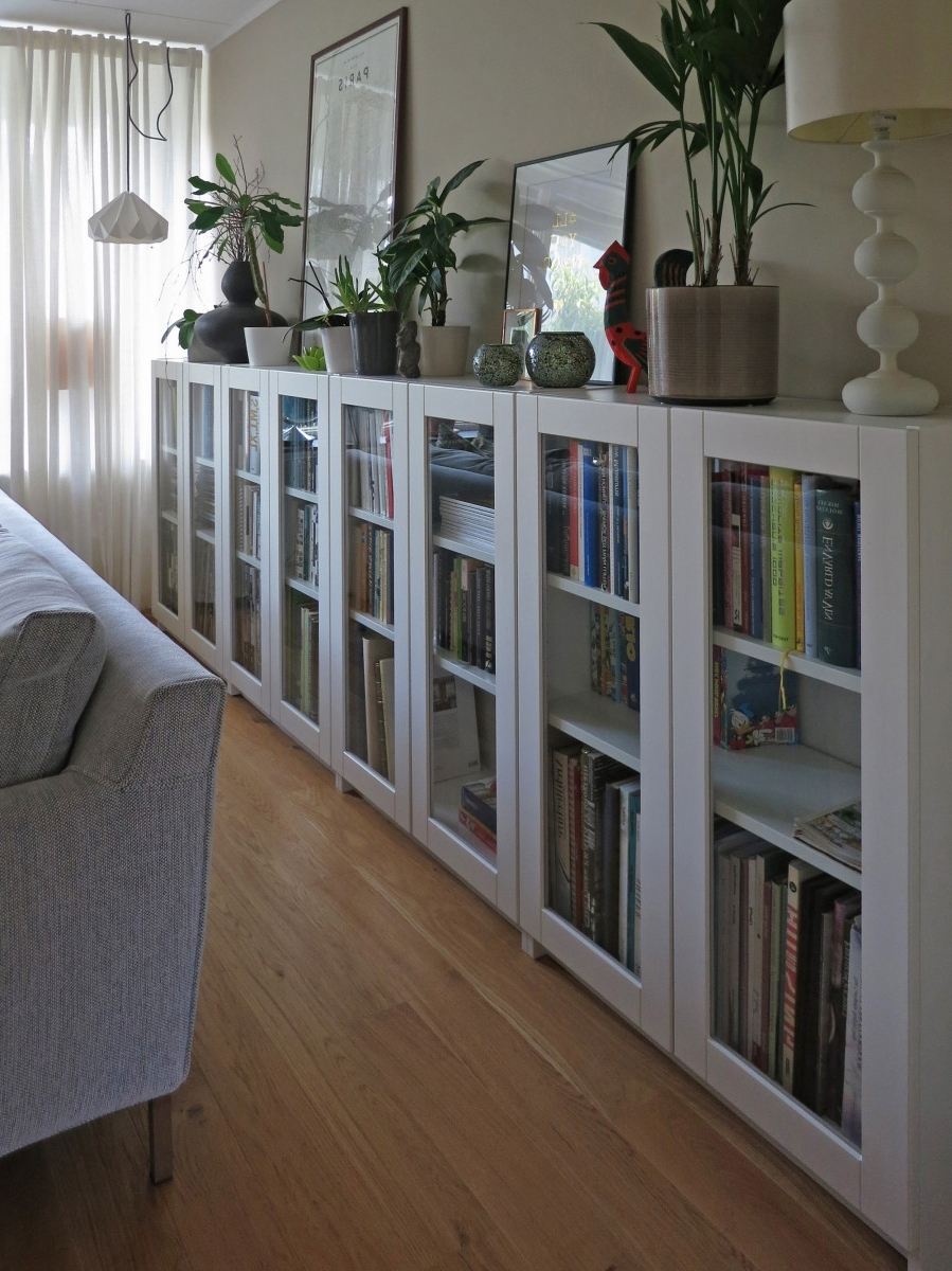 Billy Bookcases With Grytnäs Glass Doors – Ikea Hackers Inside Most Up To Date White Bookcases With Glass Doors (View 3 of 15)