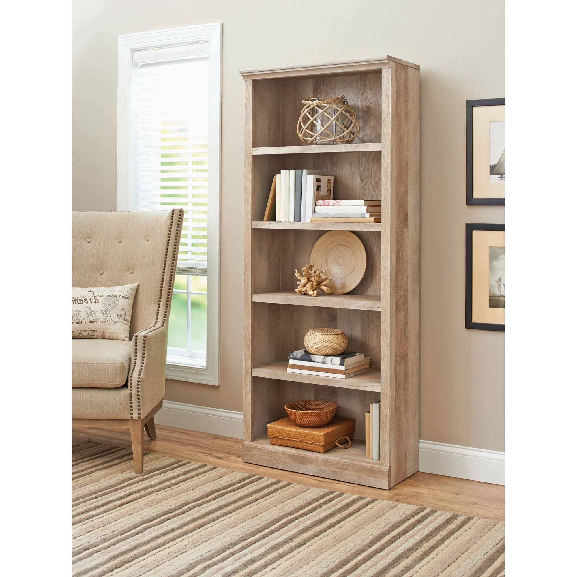 Black Bookcases Walmart For Recent Better Homes And Gardens Crossmill 5 Shelf Bookcase, Multiple (View 5 of 15)