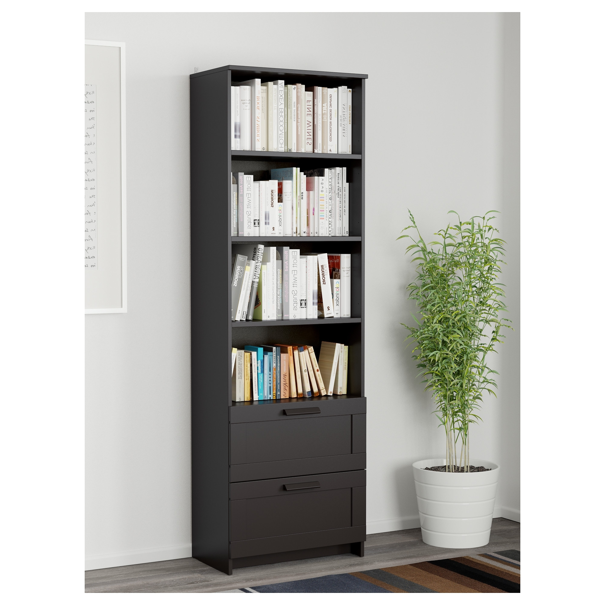 Black Bookcases With Regard To Most Up To Date Brimnes Bookcase – Black – Ikea (View 15 of 15)