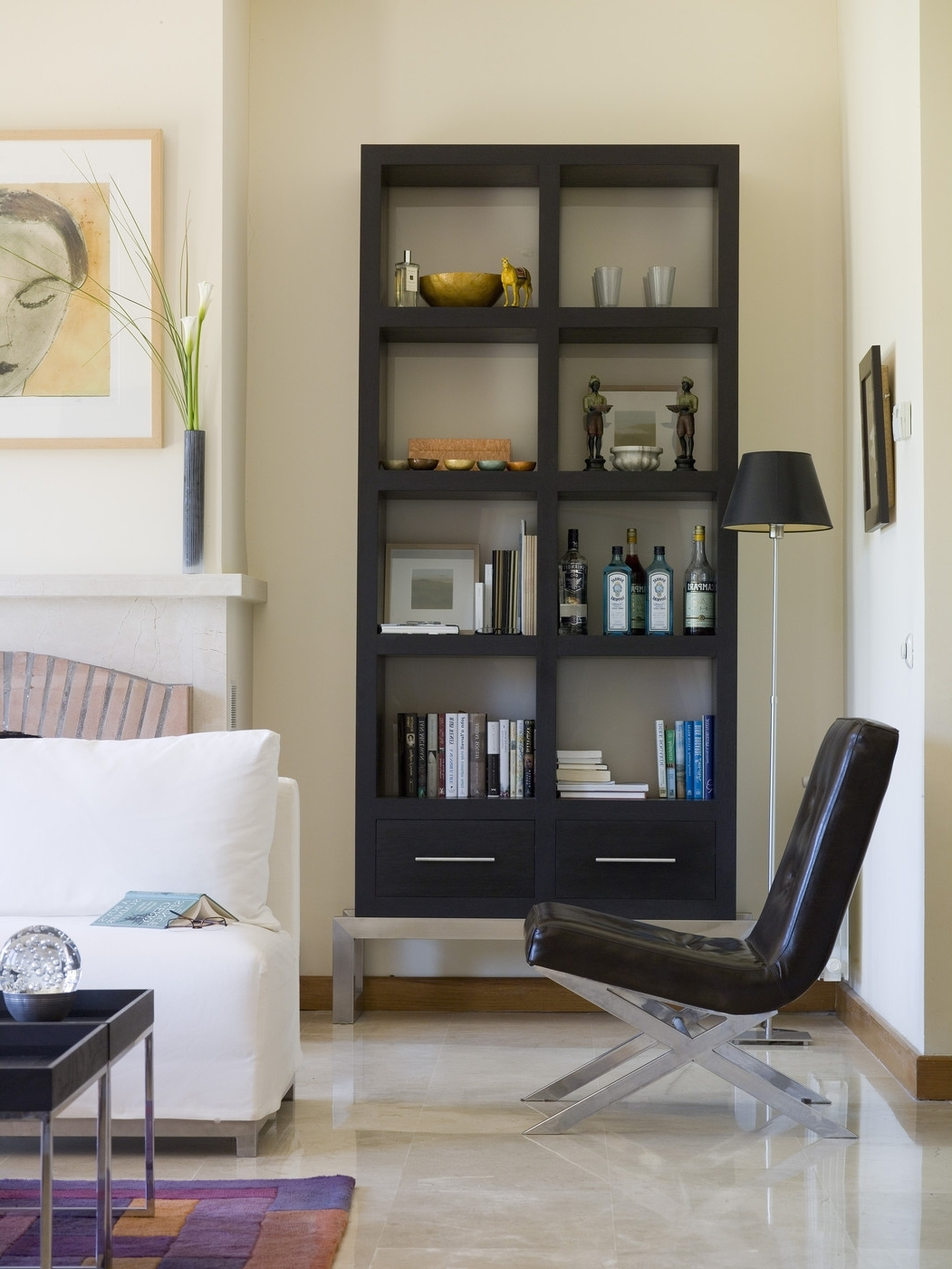 Black White Modern Family Room – Living Room Design Ideas – Lonny With Regard To 2017 Family Room Bookcases (View 10 of 15)