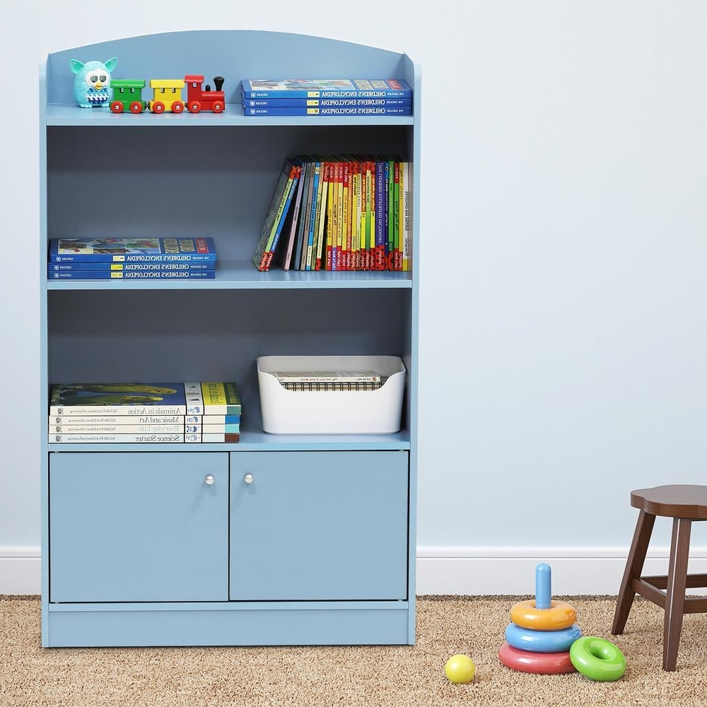 Blue Bookcases With Most Current Furinno Kidkanac Light Blue Storage Cabinet Bookshelf Fr16121lb (View 5 of 15)