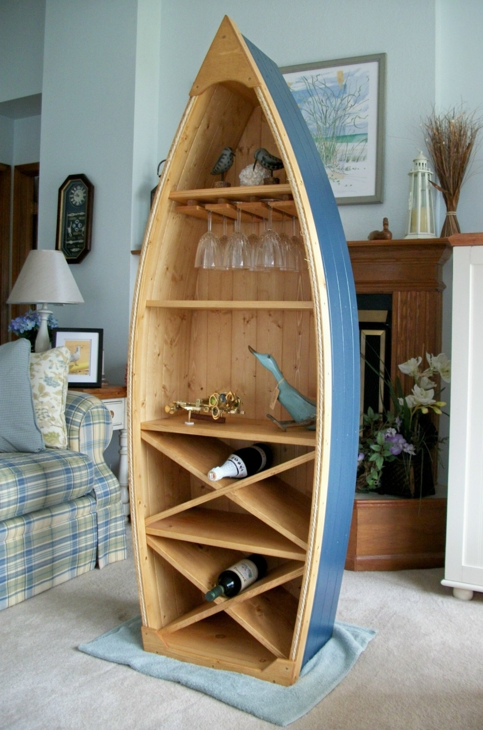 Boat Shaped Bookcases In Well Liked Boat Bookcase Image : Doherty House – How To Build Boat Bookcase (View 4 of 15)