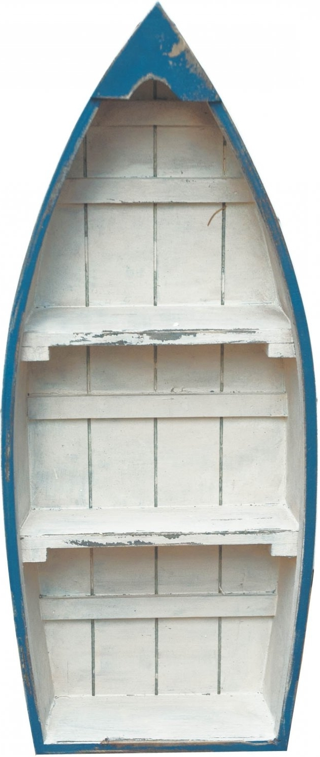 Boat Shaped Bookcases Intended For Most Up To Date 59 Boat Shaped Shelf, Handmade Wooden Nicknack Shelf Shaped Like A (View 6 of 15)