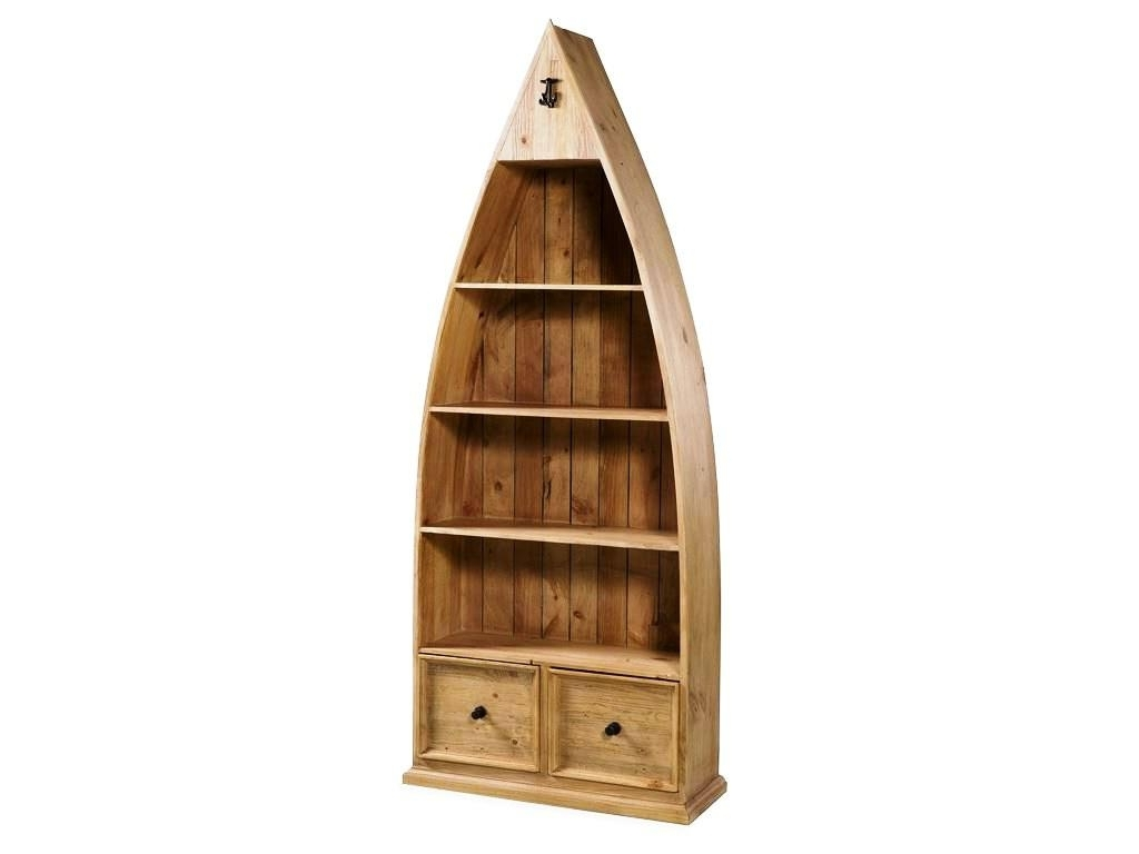 Boat Shaped Bookcases Intended For Well Known Row Boat Bookshelf — Best Home Decor Ideas : Unique Shaped Boat (View 3 of 15)