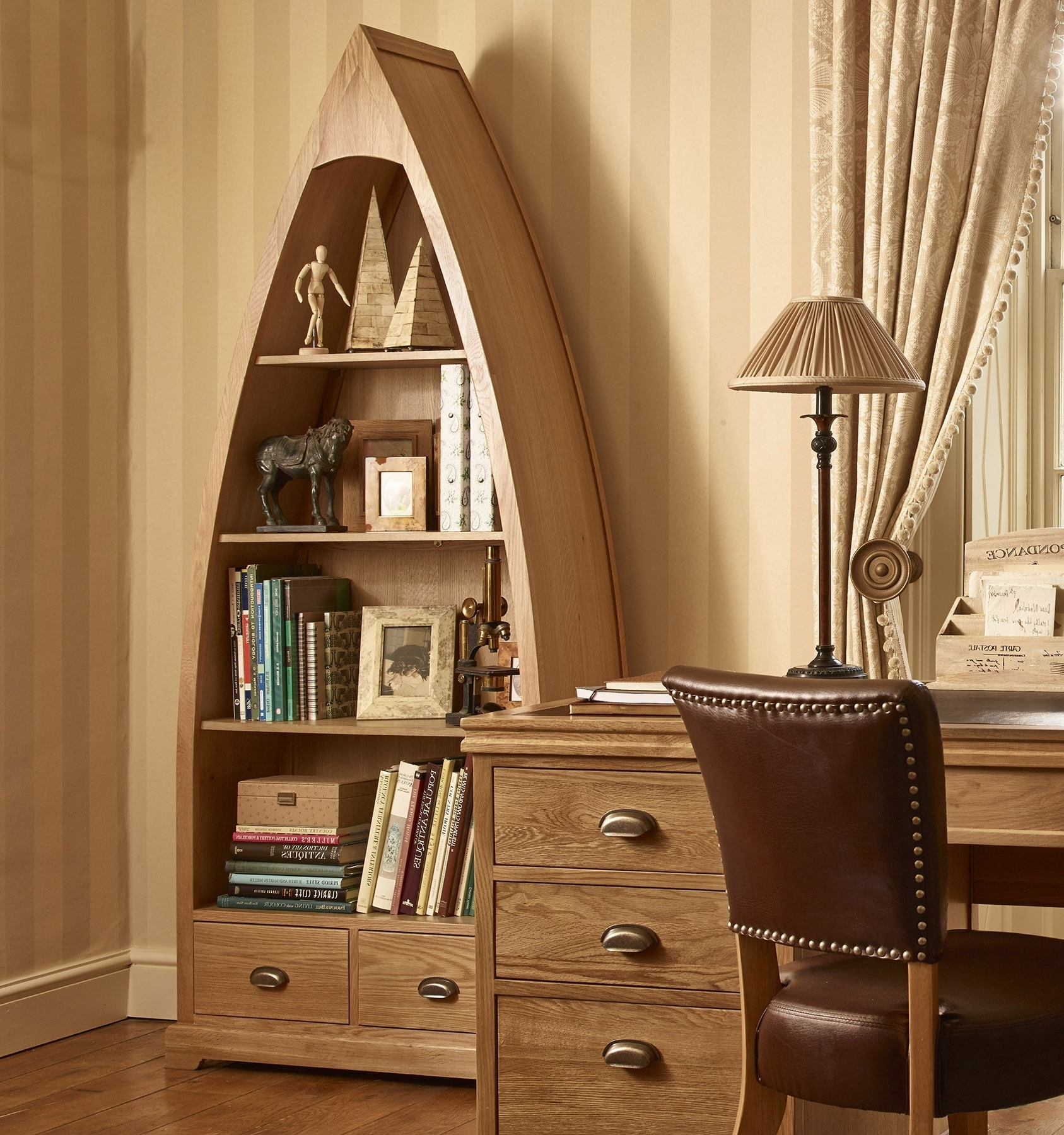 Boat Shaped Bookcases Regarding Widely Used Boat Shaped Bookcase – Neaucomic (View 6 of 15)