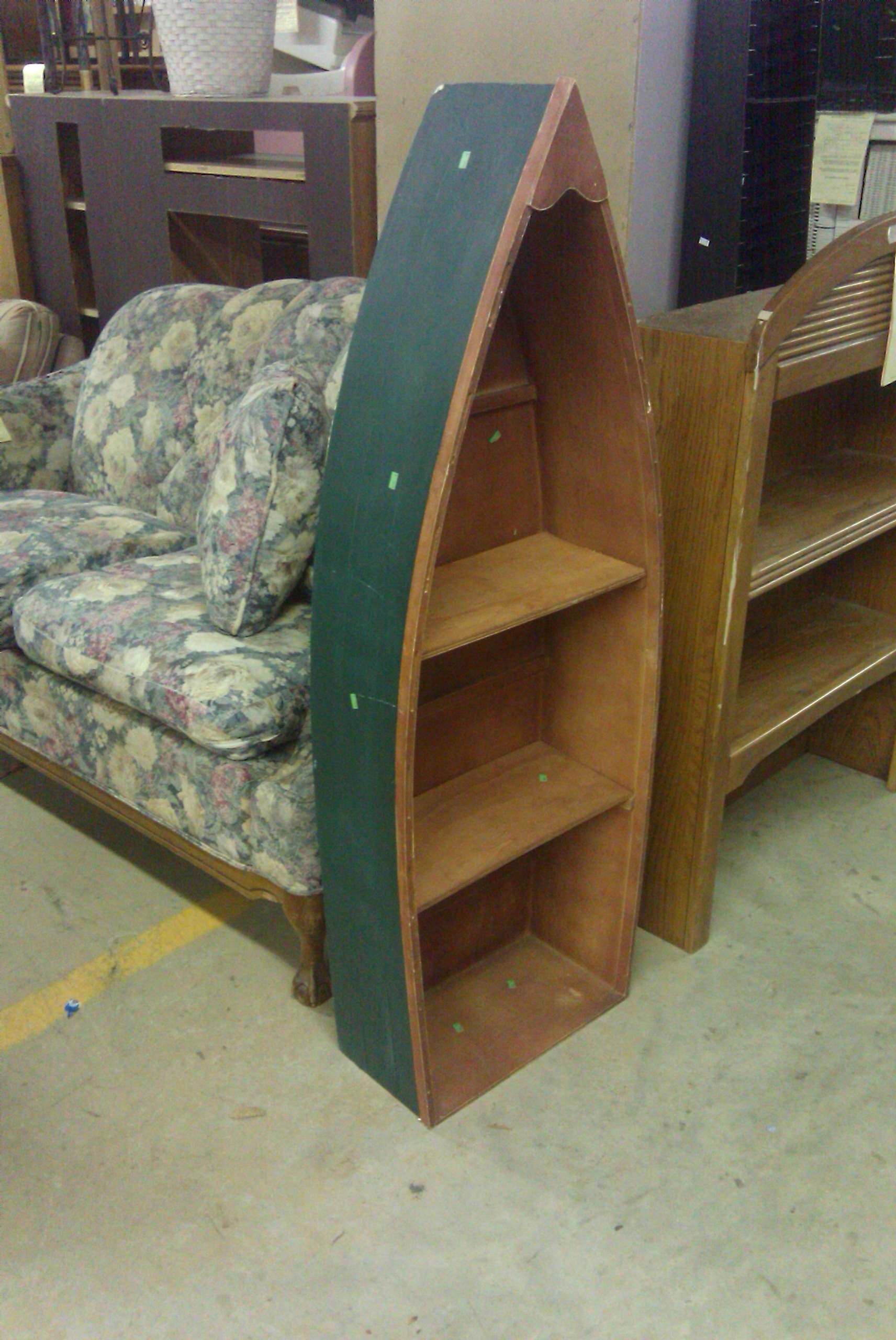 Boat Shaped Bookcases Within Well Known 59 Boat Shaped Shelf, Handmade Wooden Nicknack Shelf Shaped Like A (View 9 of 15)