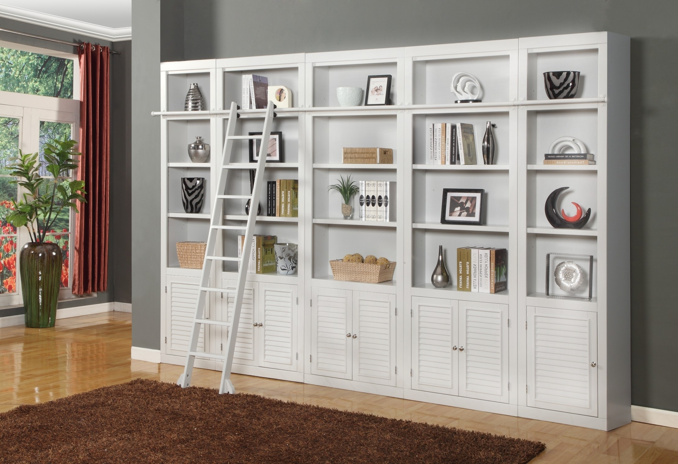 Boca 5 Piece Library Wall Unit From Parker House (boc 420(2) 430(3 Intended For Current Library Bookcases Wall Unit (View 5 of 15)