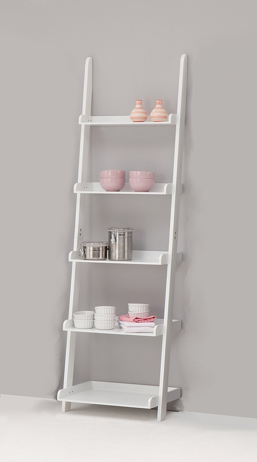 Bookcase 38+ Staggering White Ladder Pictures Ideas 5 Shelf Ikea For Trendy White Ladder Bookcases (View 8 of 15)