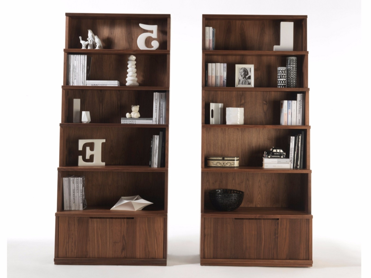 Bookcase 40 Literarywondrous Dark Wood Photos Design Bookcases With Regard To 2017 Bookcases With Bottom Cabinets (View 2 of 15)