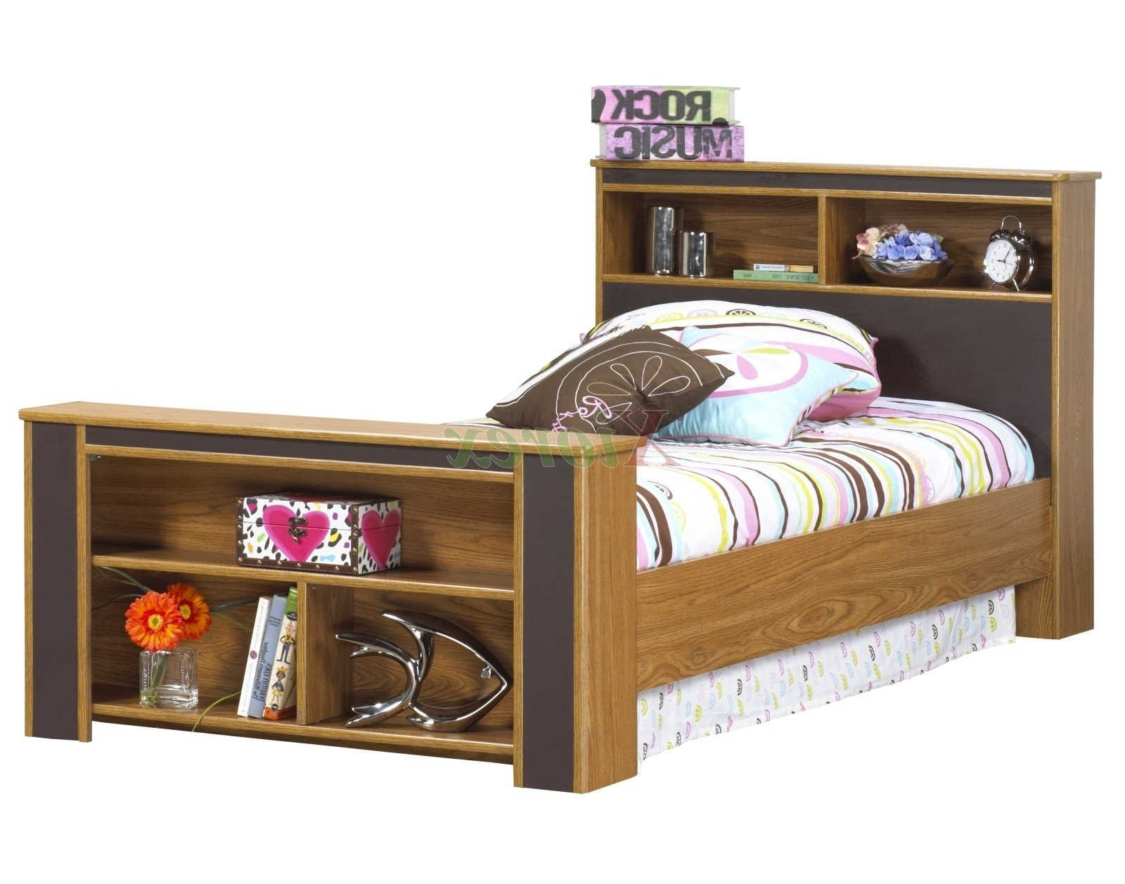 Bookcase Headboard & Footboard Bed Frames Life Line Tango Beds For Best And Newest Bed Frame Bookcases (View 10 of 15)