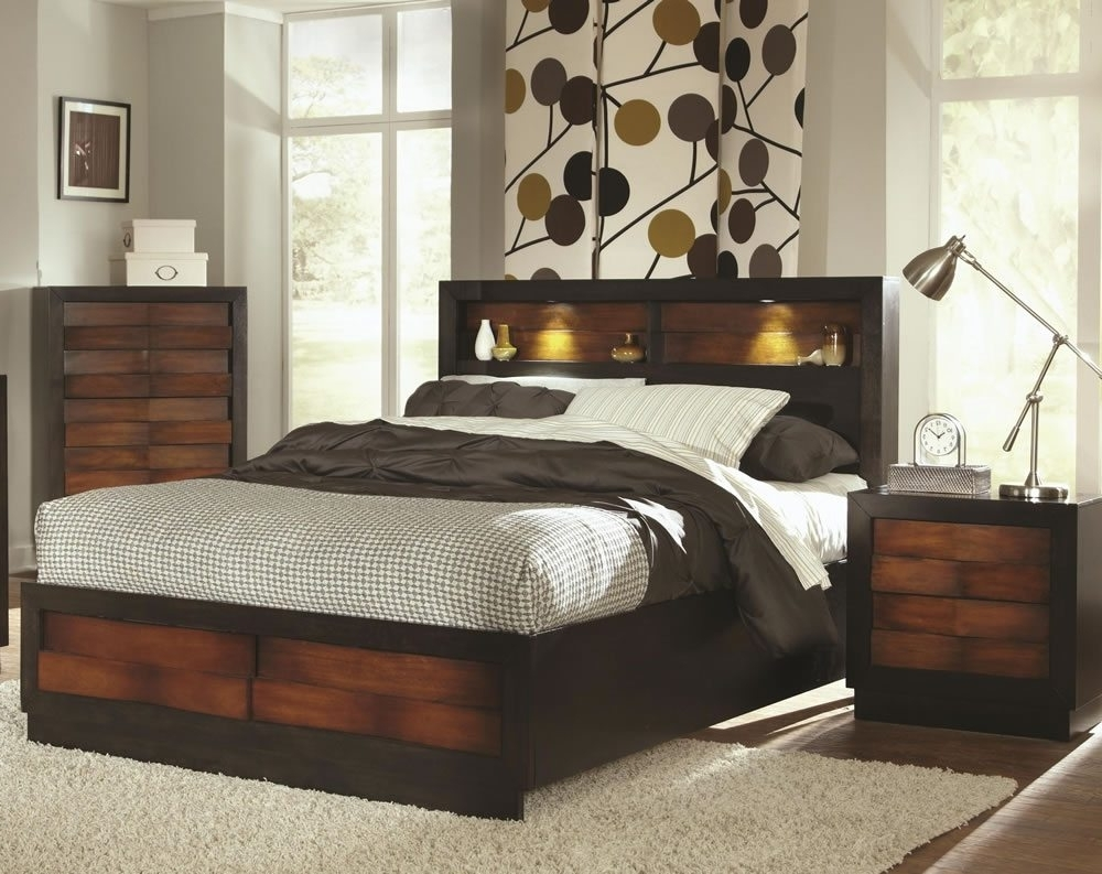 Bookcase Shocking Queen Storage Bed Images Concept Beds Size Set In Widely Used Queen Bed Bookcases (View 2 of 15)