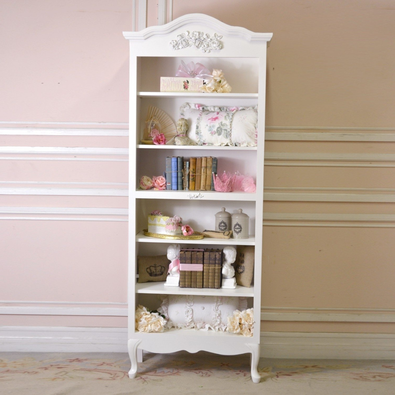 Bookcases An Shelving Vintage And Shab Chic Bookcase Shabby Chic Inside 2018 Shabby Chic Bookcases (View 2 of 15)