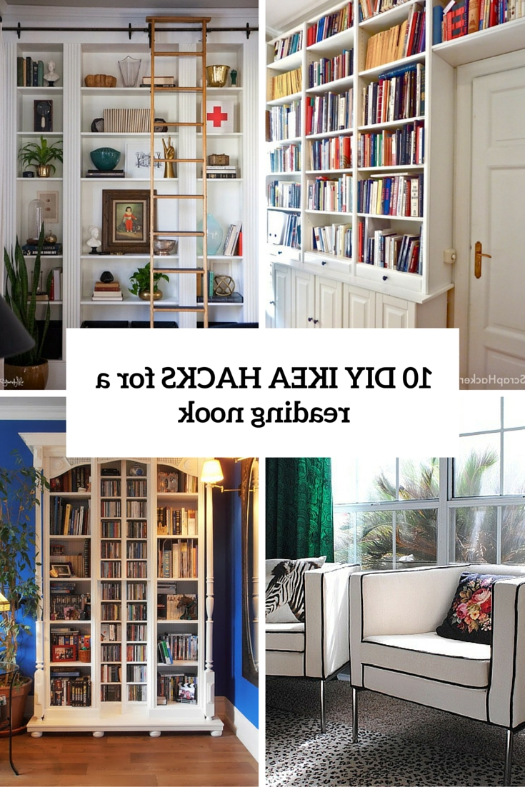 Bookcases Cover Regarding Preferred 10 Diy Ikea Hacks For A Home Library Or A Reading Nook – Shelterness (View 6 of 15)