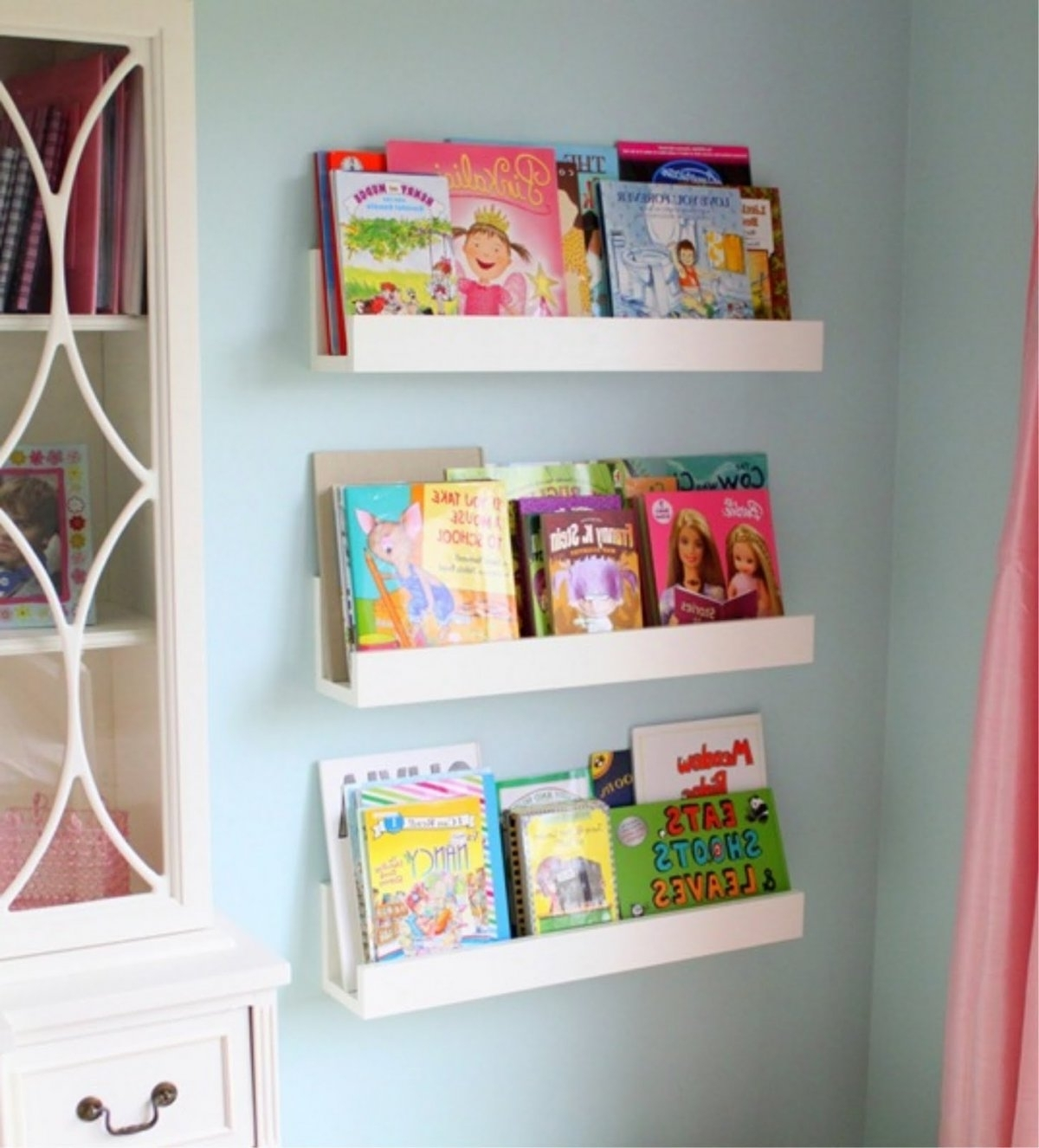 Bookcases For Kids Room For Most Popular Wall Shelves Design: White Wall Shelves For Kids Room Design White (View 5 of 15)
