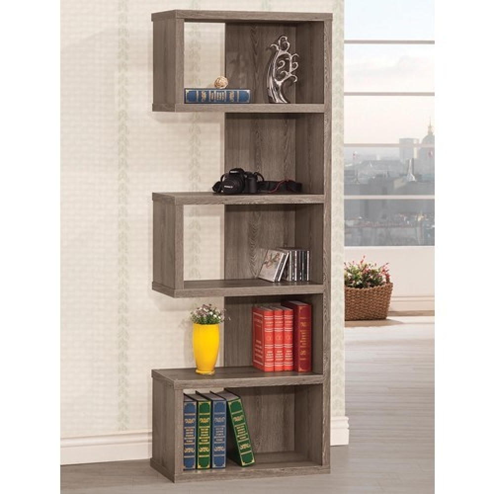 Bookcases Grey Semi Backless Bookcase For Well Known Grey Bookcases (View 1 of 15)