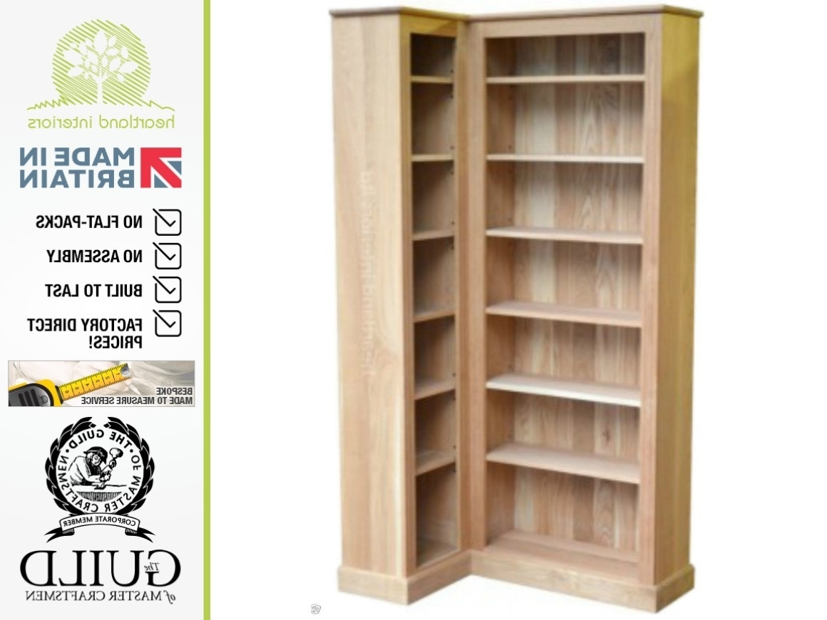 Bookcases Ideas: Corner Bookcases Free Shipping Corner Bookshelves For Most Recent Corner Oak Bookcases (View 4 of 15)