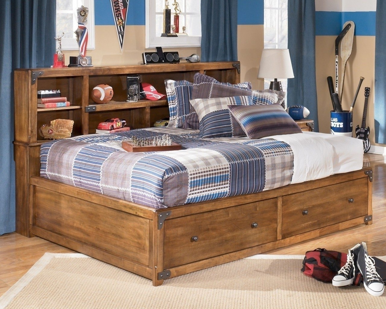 Bookcases Ideas: Twin Storage Bed With Bookcase Headboard – Foter Intended For Current Twin Bed Bookcases (View 15 of 15)