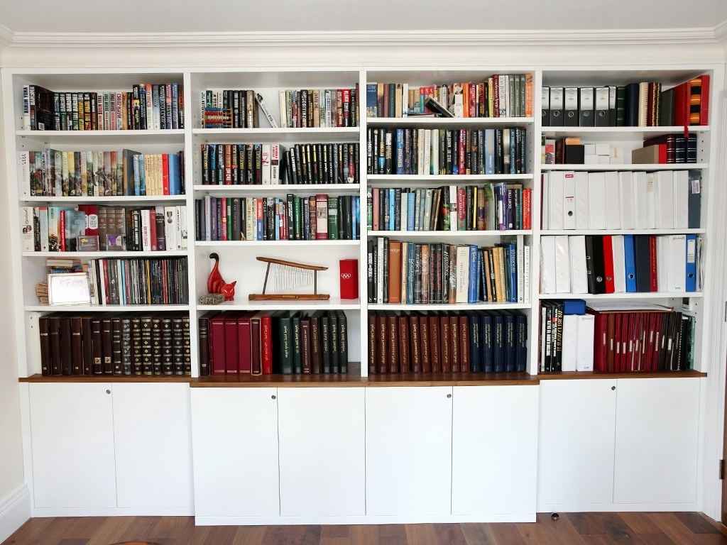 Bookcases With Bottom Cabinets For 2017 Bookcase With Cabinets On Bottom Cute Wall Units Enchanting White (View 4 of 15)