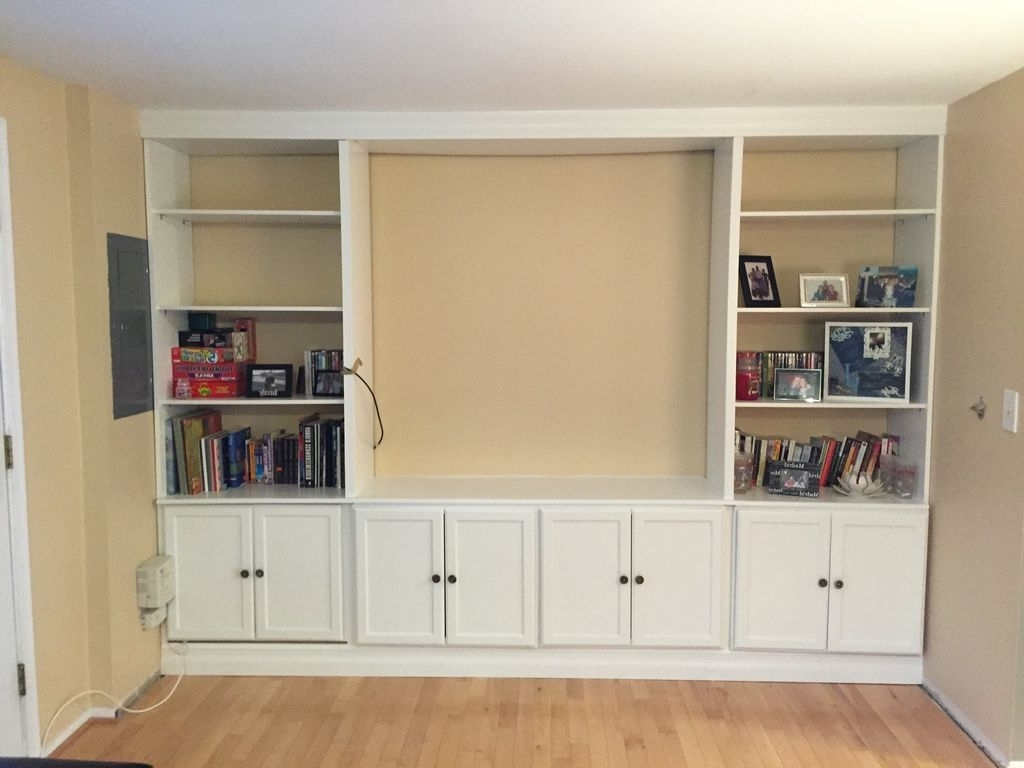 Bookcases With Cupboard Under Inside Best And Newest Wall Units (View 12 of 15)