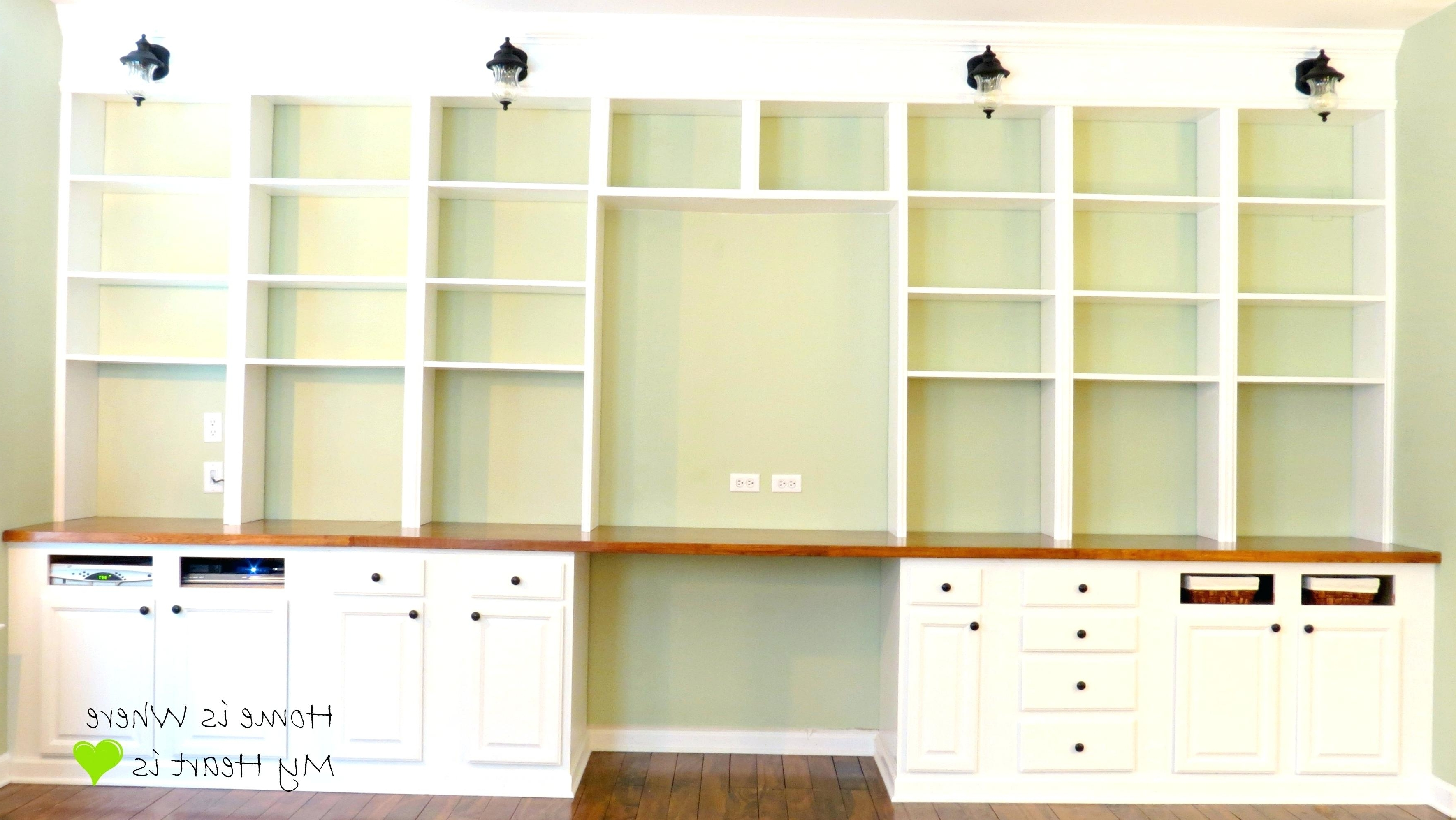 Bookcases With Desk Within Recent Decoration: Built In Bookcases With Desk Bookcase And Bookshelf (View 2 of 15)