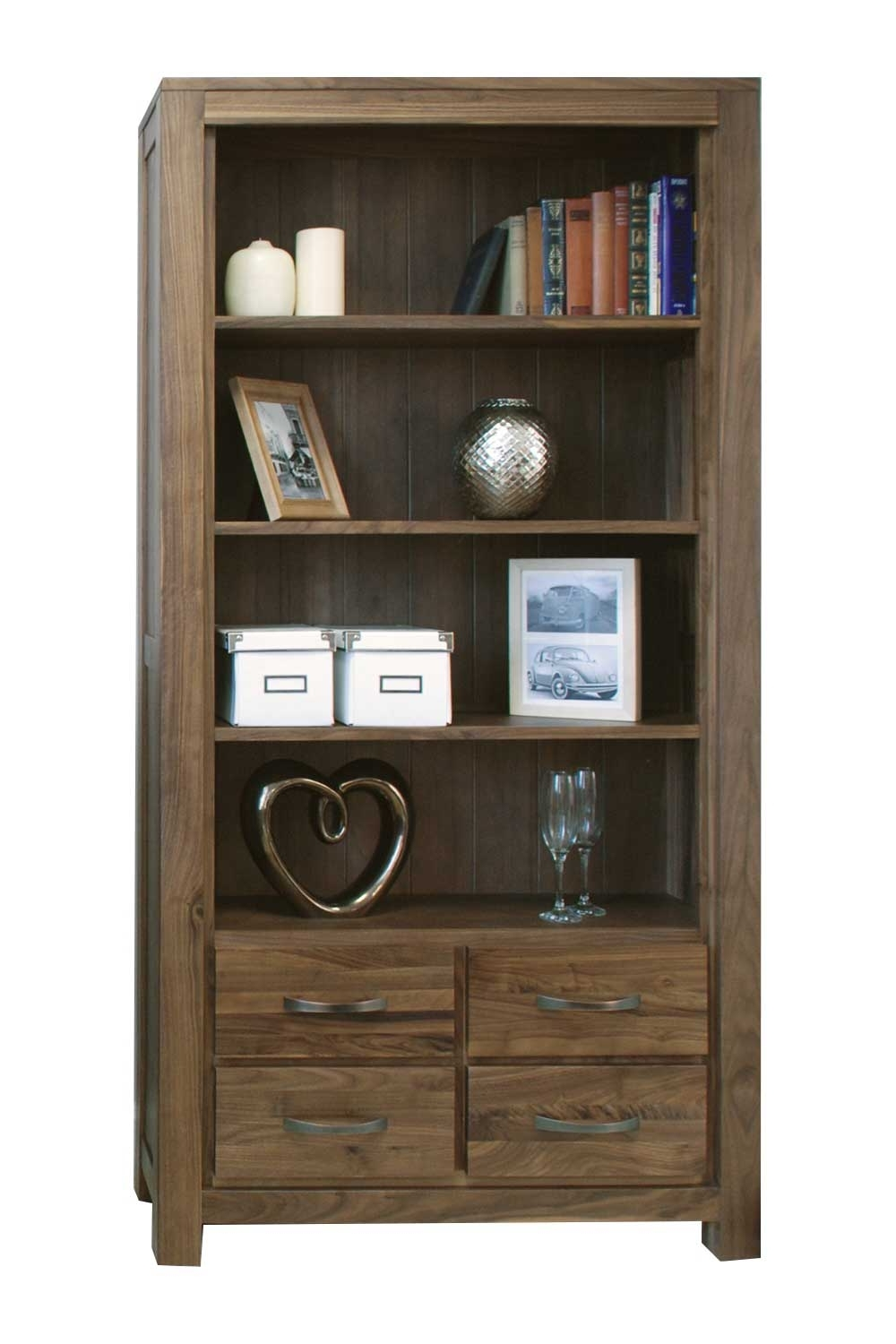 Bookcases With Drawers On Bottom In 2017 Walnut Bookcase With Drawers : Doherty House – Fabulous Ideas (View 3 of 15)