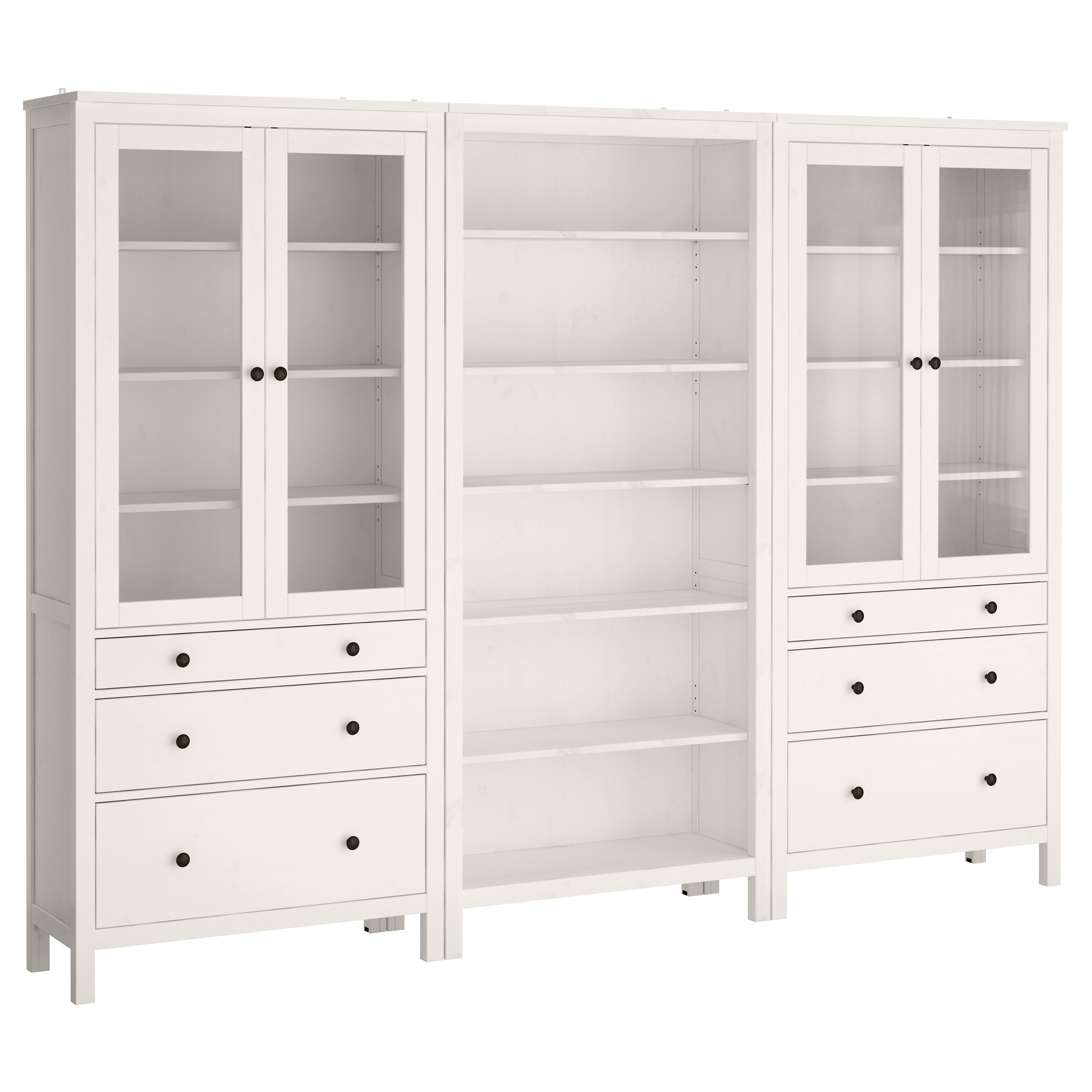 Bookcases With Drawers On Bottom Regarding Current Hemnes Storage Combination W Doors/drawers – White Stain – Ikea (View 5 of 15)