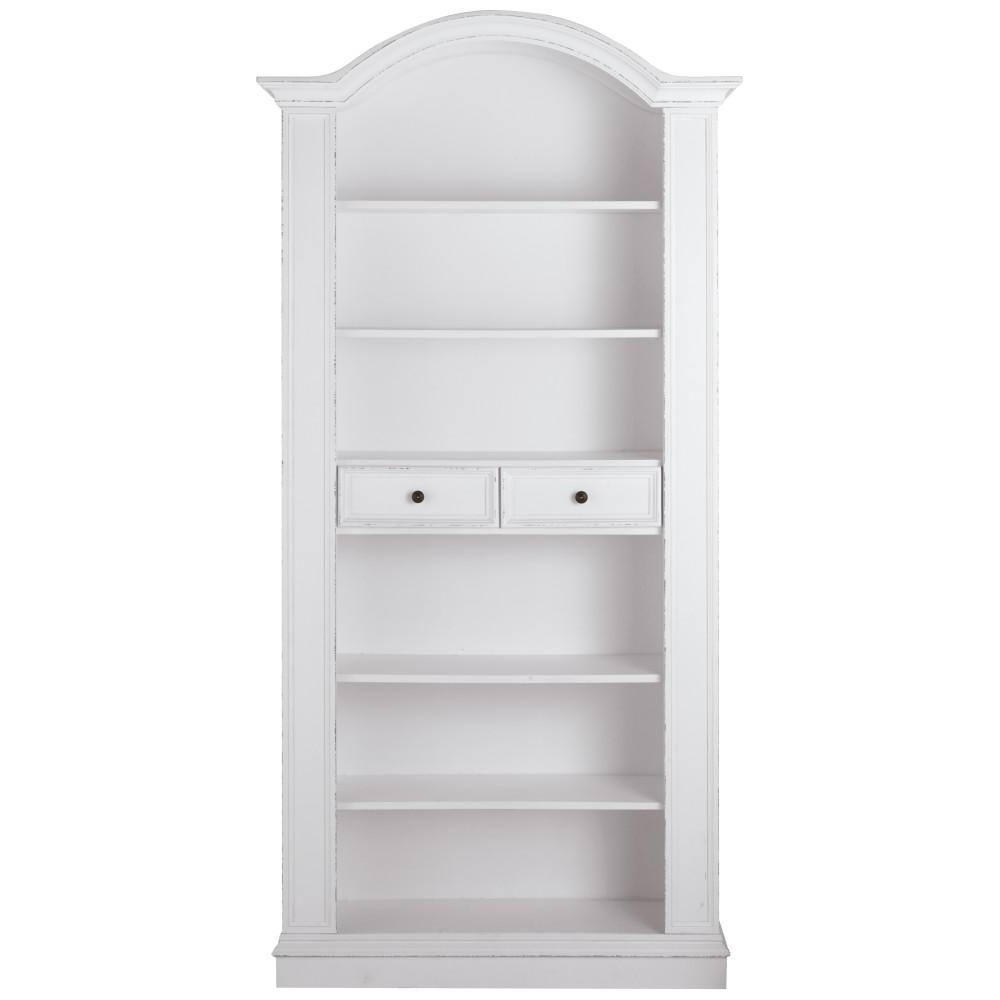 Bookcases With Drawers Throughout Popular Home Decorators Collection Christina Antique White Storage Open (View 8 of 15)