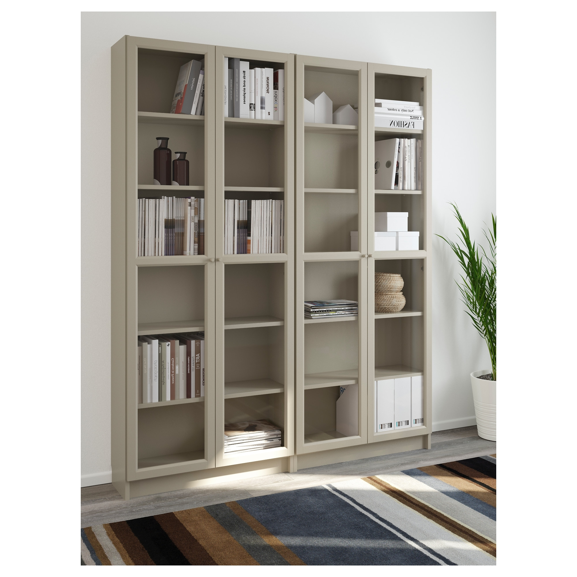 Bookcases With Glass Doors With Regard To Current Billy Bookcase – Beige – Ikea (View 6 of 15)