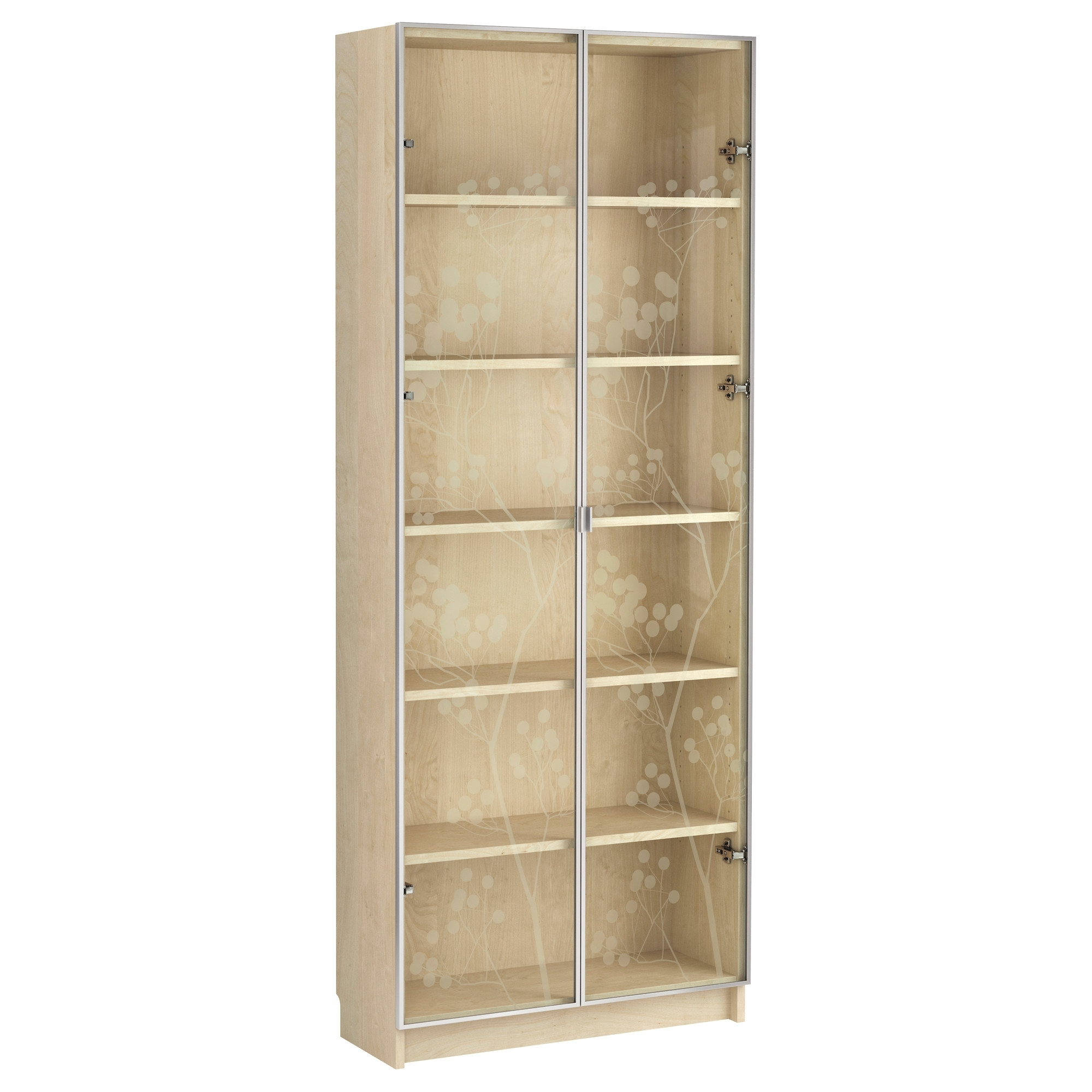 Bookcases With Glass Doors With Widely Used Thinking I'm Leaning Towards This Birch Veneer Vs The White (View 7 of 15)
