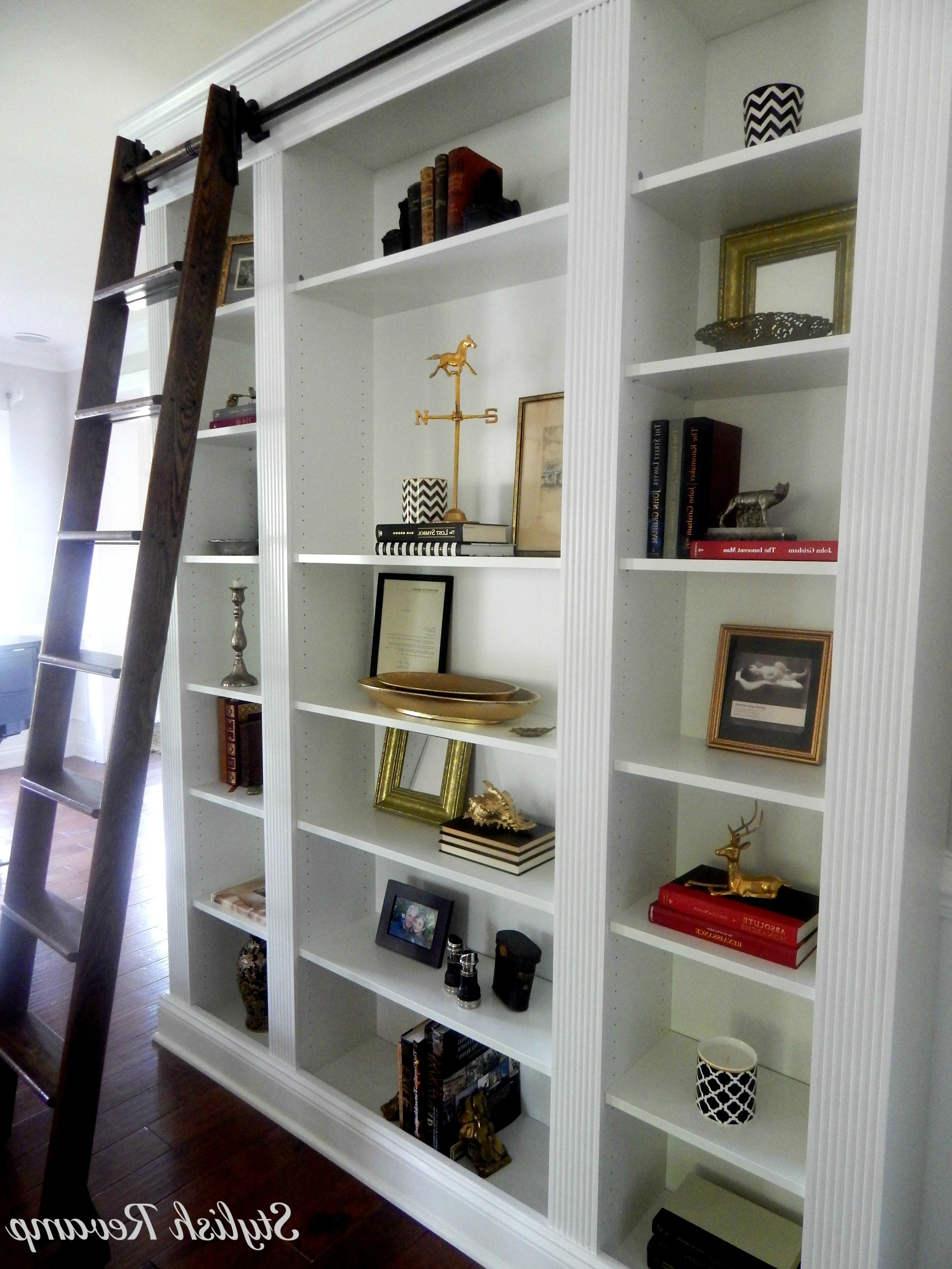 Bookcases With Ladder With Regard To Most Recent Ikea Billy Bookcase Hack – Stylish Revamp (View 2 of 15)