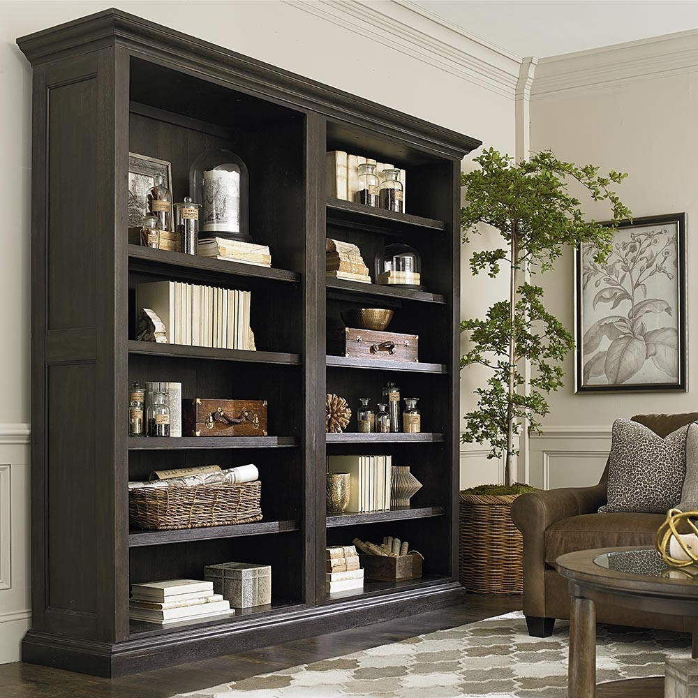 Bookcases Within Famous Tall Single Open Bookcase Brown (View 6 of 15)