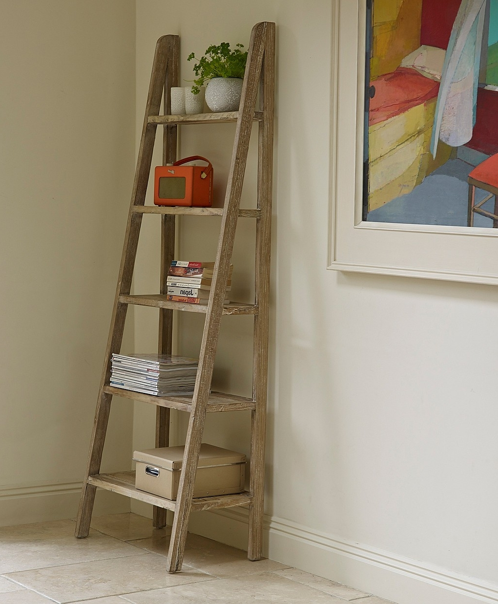 Bookshelf Ladder, Ladder Bookshelf And Within Widely Used Ladder Bookcases (View 3 of 15)
