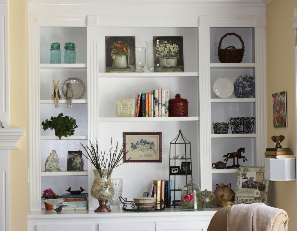 Bookshelves Designs For Home Inside Well Known Living Room Best Shelves Design Trends With Modern White Bookcases (View 15 of 15)