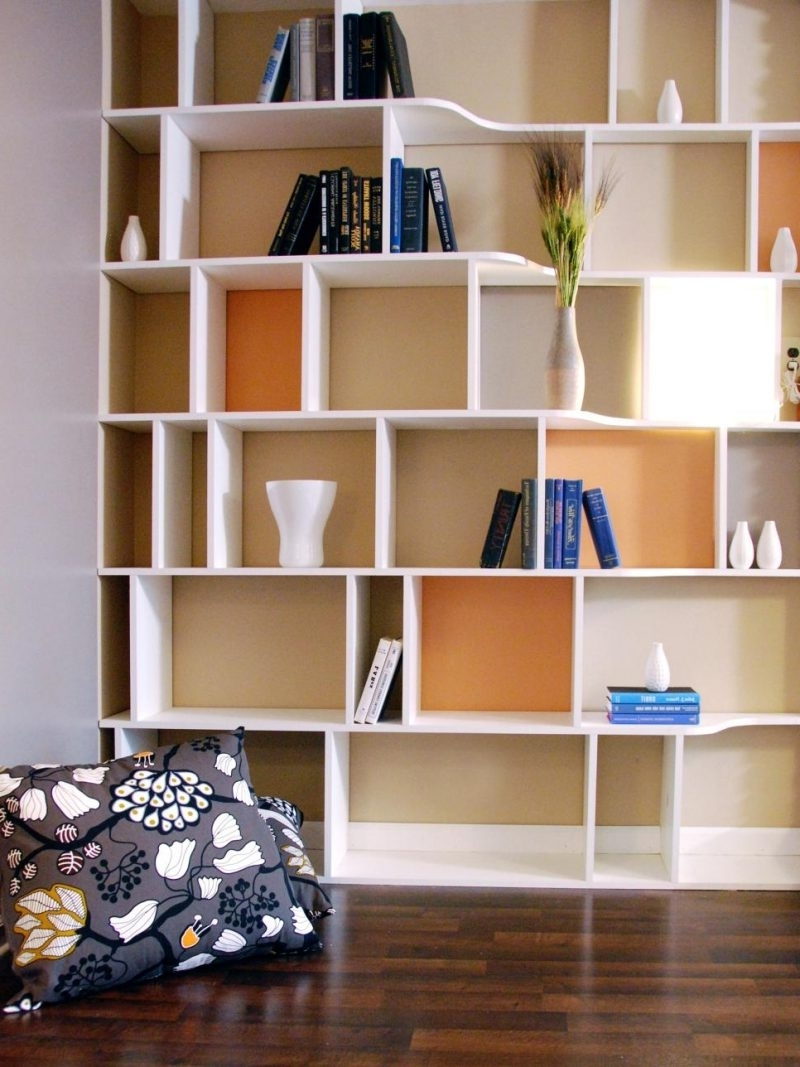 Bookshelves Designs For Home With Regard To Most Recent Home Design: Home Design Wall Shelf Designs Impressive Pictures (View 11 of 15)