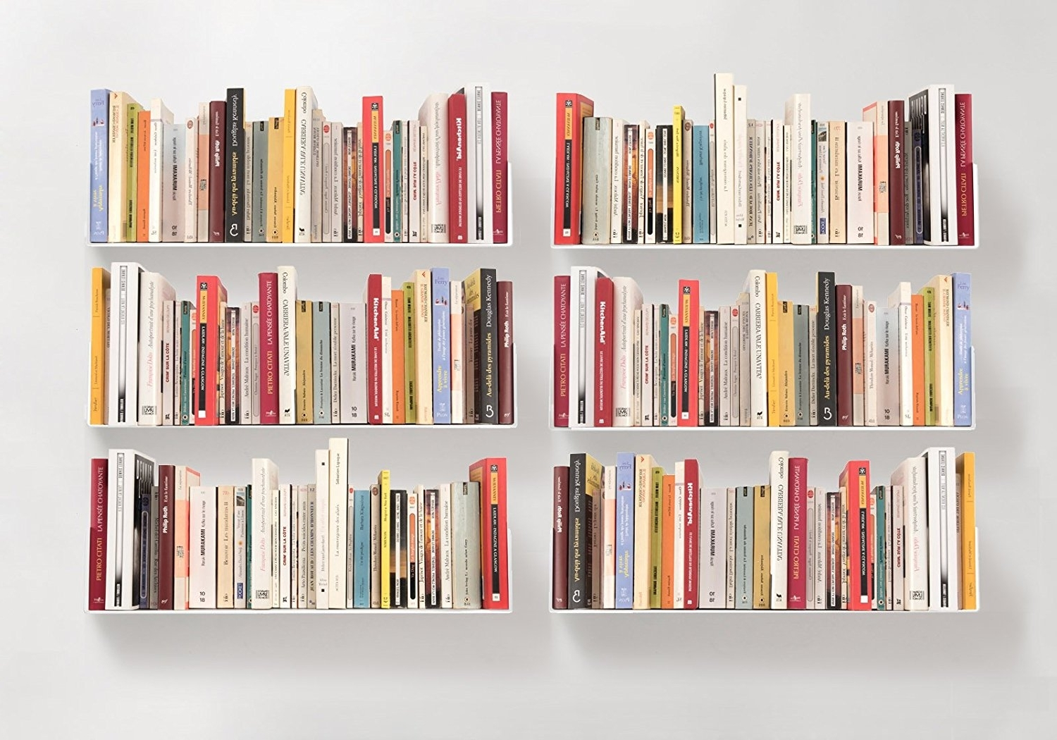 "Bookshelves Pertaining To Favorite Amazon: Bookshelves ""u"" – Set Of 6 White Wall Shelves (View 4 of 15)"