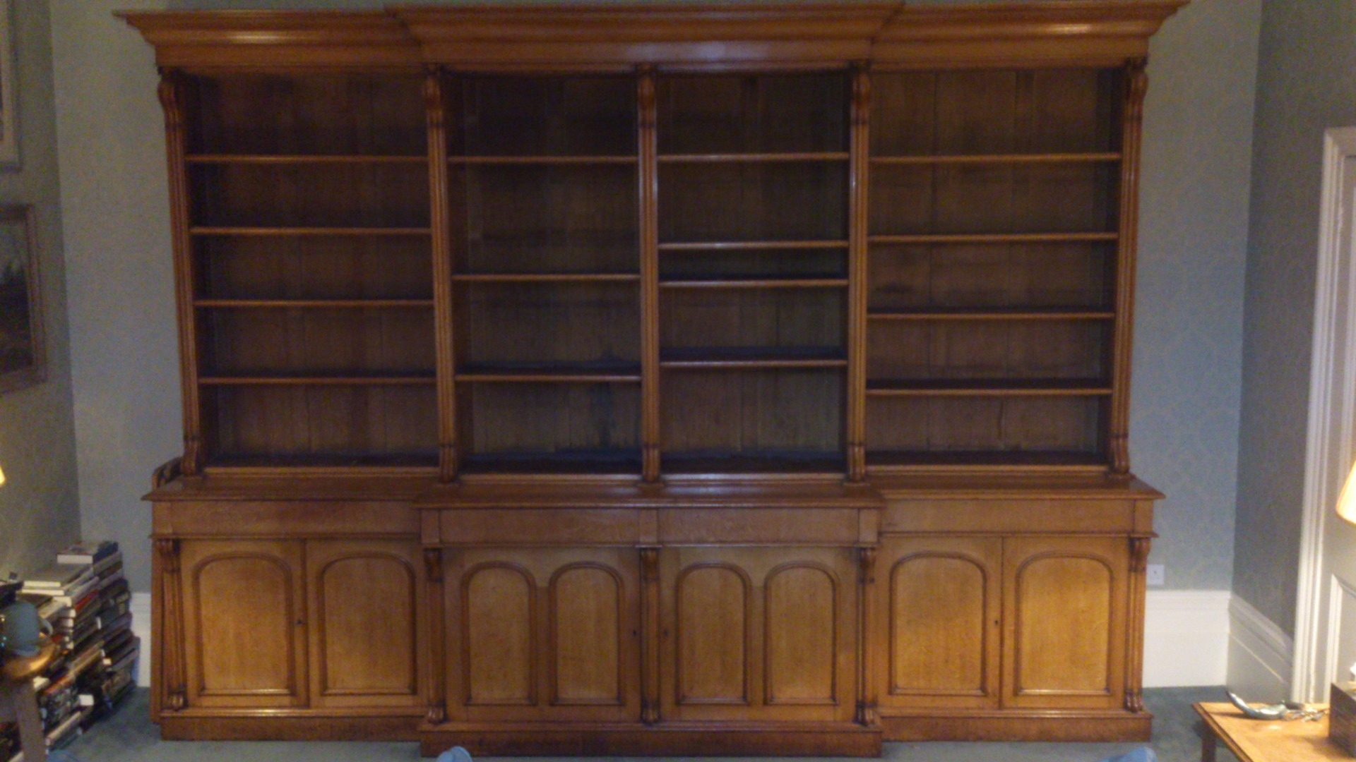 Breakfront Bookcases – Hares Antiques In Favorite Break Front Bookcases (View 7 of 15)