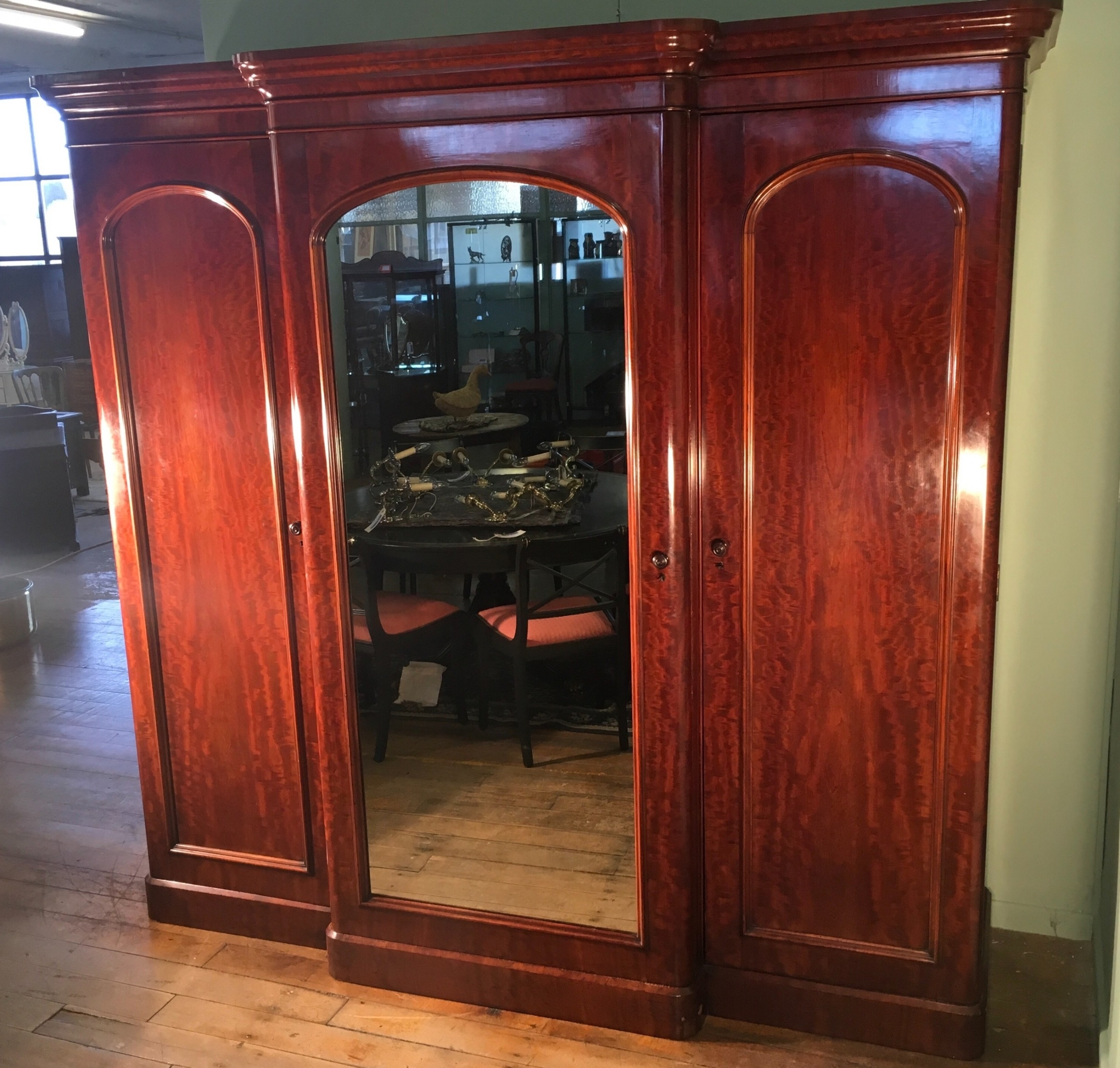 Breakfront Wardrobe In Most Current Victorian Mahogany Breakfront Wardrobe (View 7 of 15)